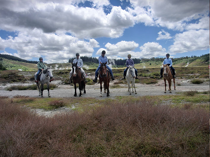 Horse Trekking near Lake Taupo New Zealand