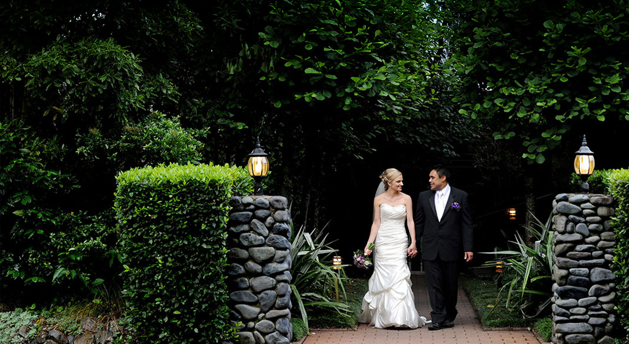Stunning outdoor wedding venue at Tongariro Lodge near Turangi