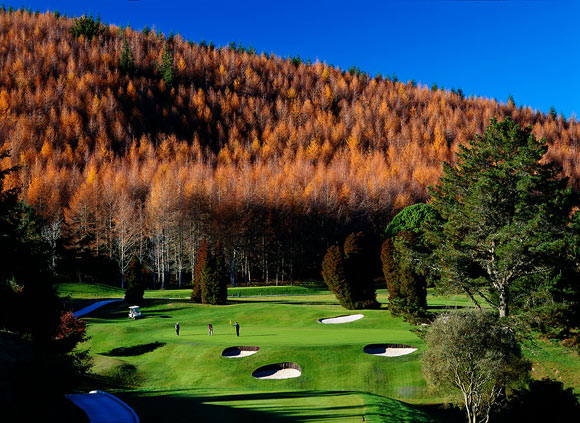 View of Wairakei Golf Course in the fall