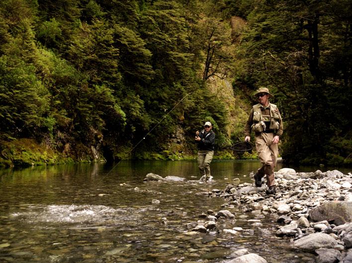 Fly fishing near Taupo with Tongariro Lodge