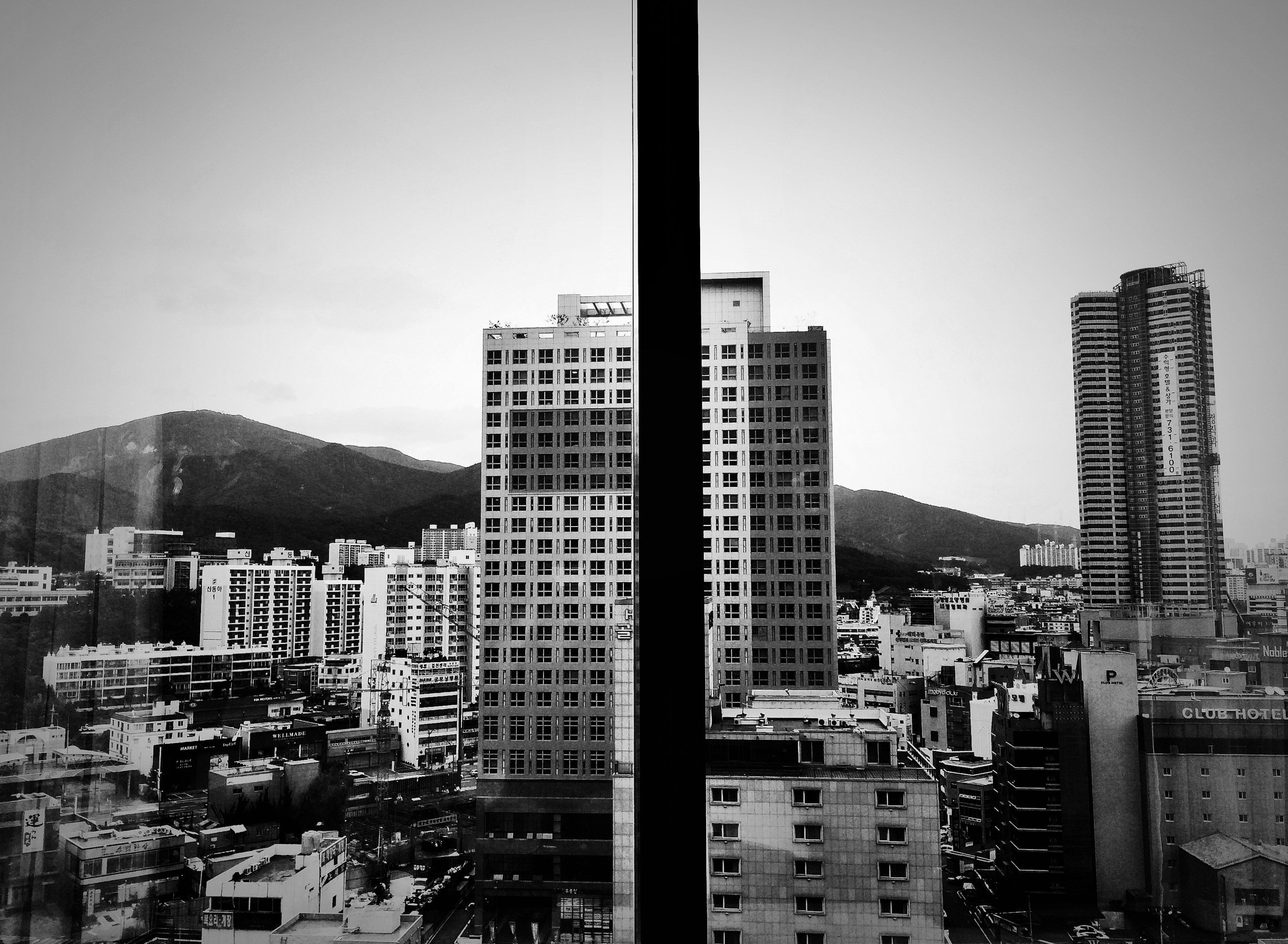 View from my hotel window in Busan, S. Korea.