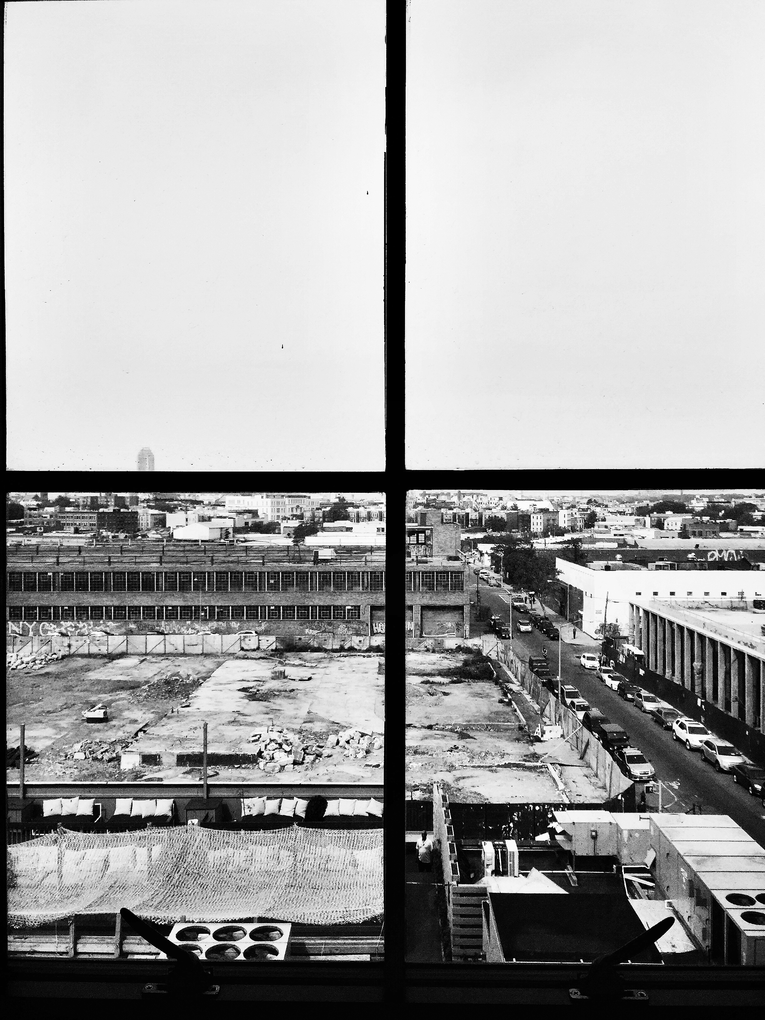 View from hallway window.