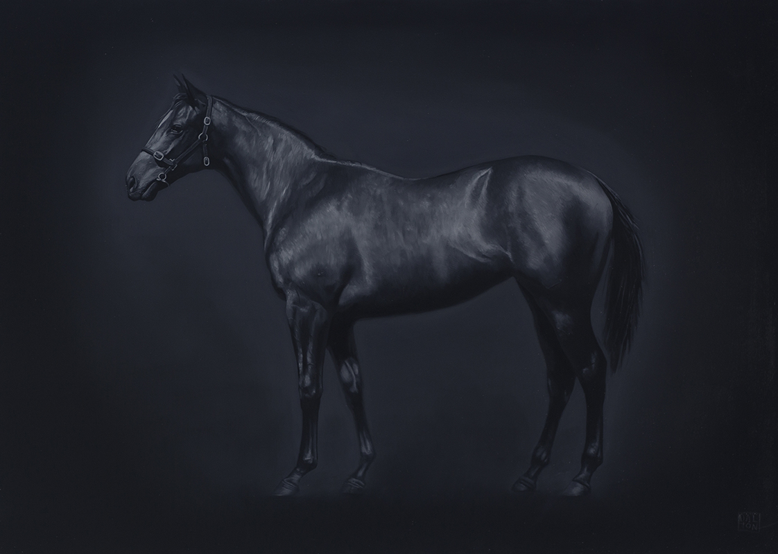 A Horse Contemplates The Absence Of An Ill Fitting Saddle 2 Jonathan Dalton 50cm x 70cm.jpg