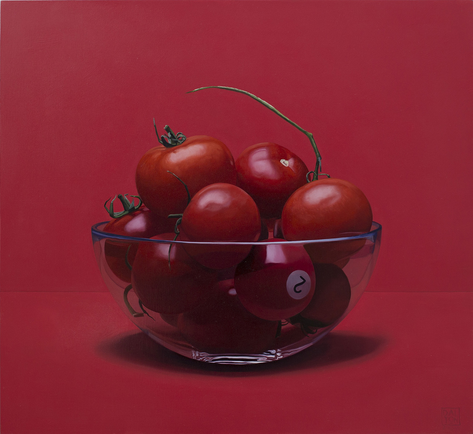 Tomato to Corner Pocket Jonathan Dalton 55x60cm Oil on board 01.jpg