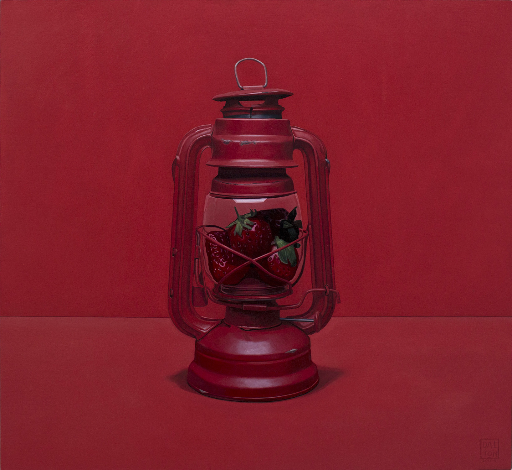 The Strawberry Lamp Jonathan Dalton 55x60cm Oil on board 05.jpg