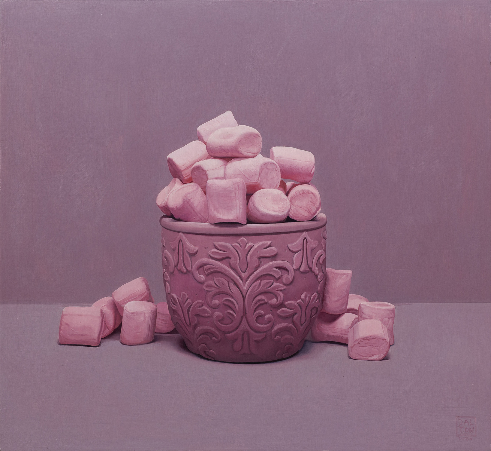 Pink Marshmallows 55x60cm Oil on Board.jpg