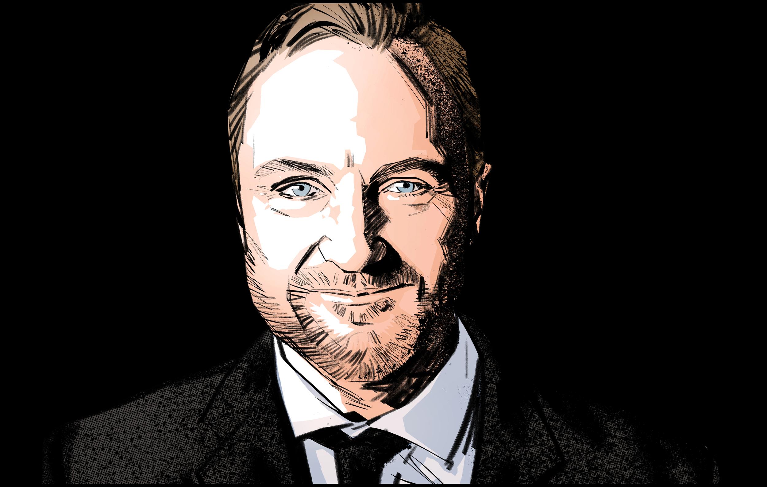 Cam McHarg  by Marvel graphic novel artist,  Tomm Coker.