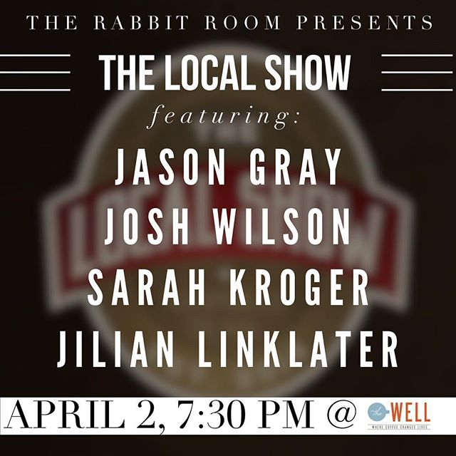 Tomorrow night, Nashville!  #repost @thelocalshow __________________  April 2!!