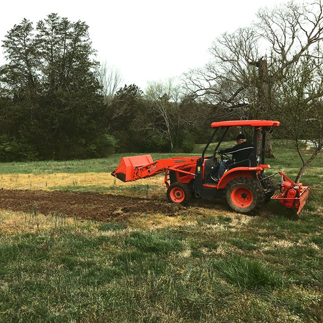 Two pics of my office yesterday: 1) in the studio with @benshive, singing on the new BTLOG record and 2) planting a wildflower meadow in the front pasture (thanks to my tractor-owning neighbor).