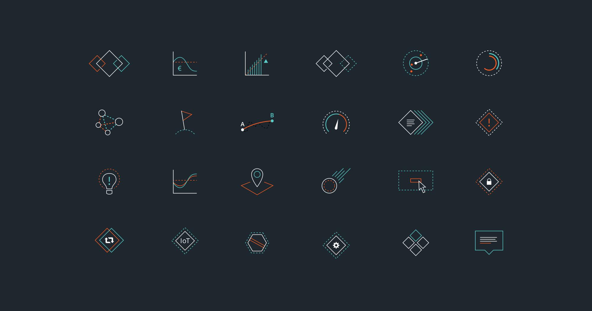 Romcore custom icon collection