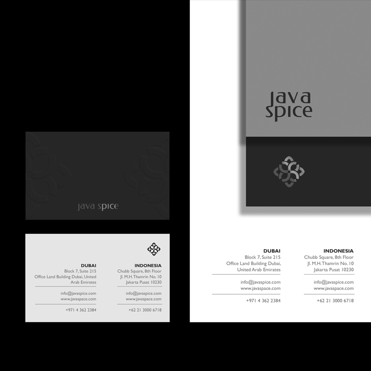 Java Spice  Coorporate Branding  _  Spice is a commodity with high historical, cultural, and artistic value. Spices can be processed in various ways, and have been passed down from generation to generation in different parts of the world. With its rich history and culture, spices can become a commodity that will never be vanished throughout the ages..  Java Spice is a leading company of spices commodity distributions throughout the world. Our biggest market comes from middle east and european companies. As the market grows rapidly, we are improving our brand to be better known by our audiences.