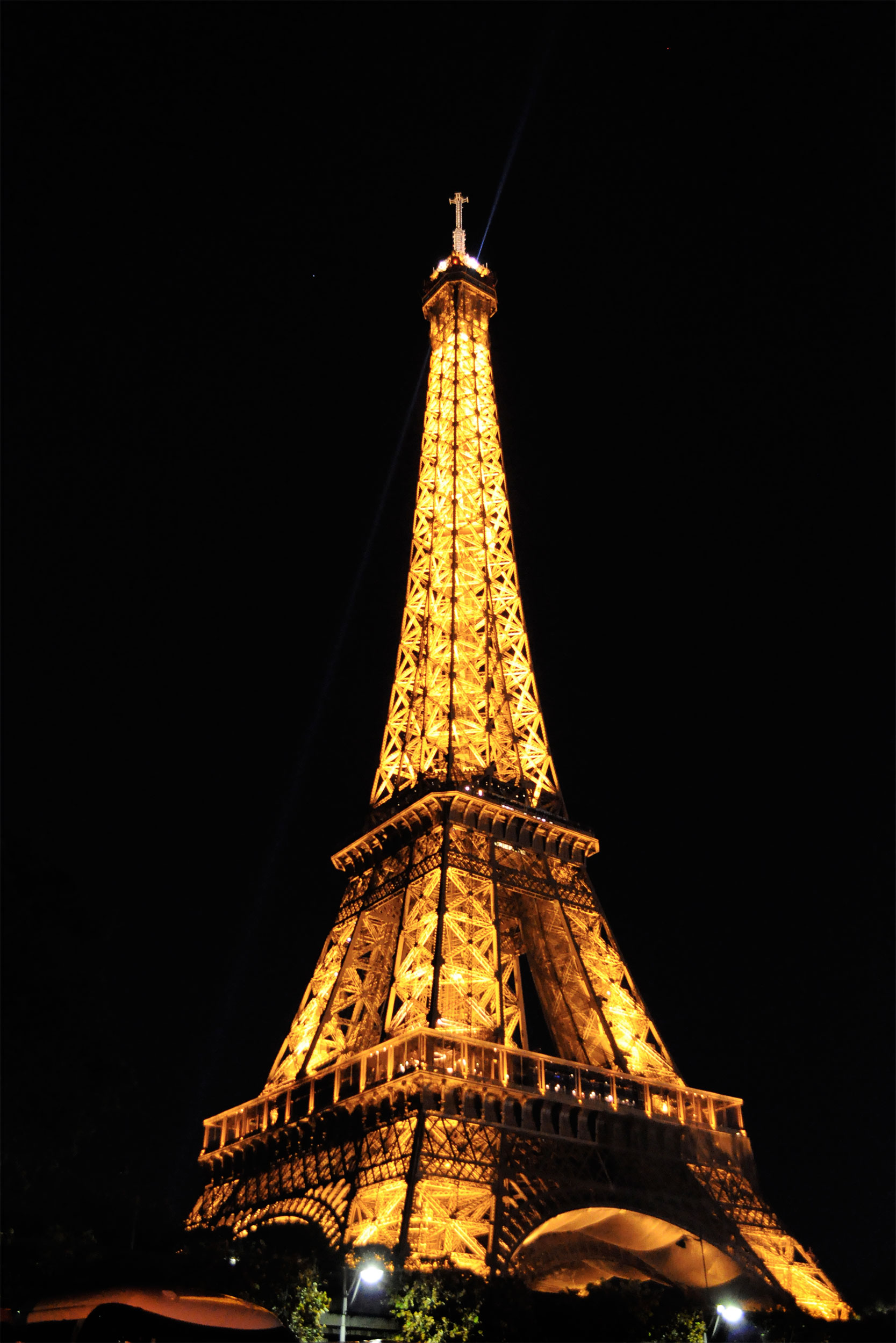 The Eiffel Tower, taken from near the Seine River