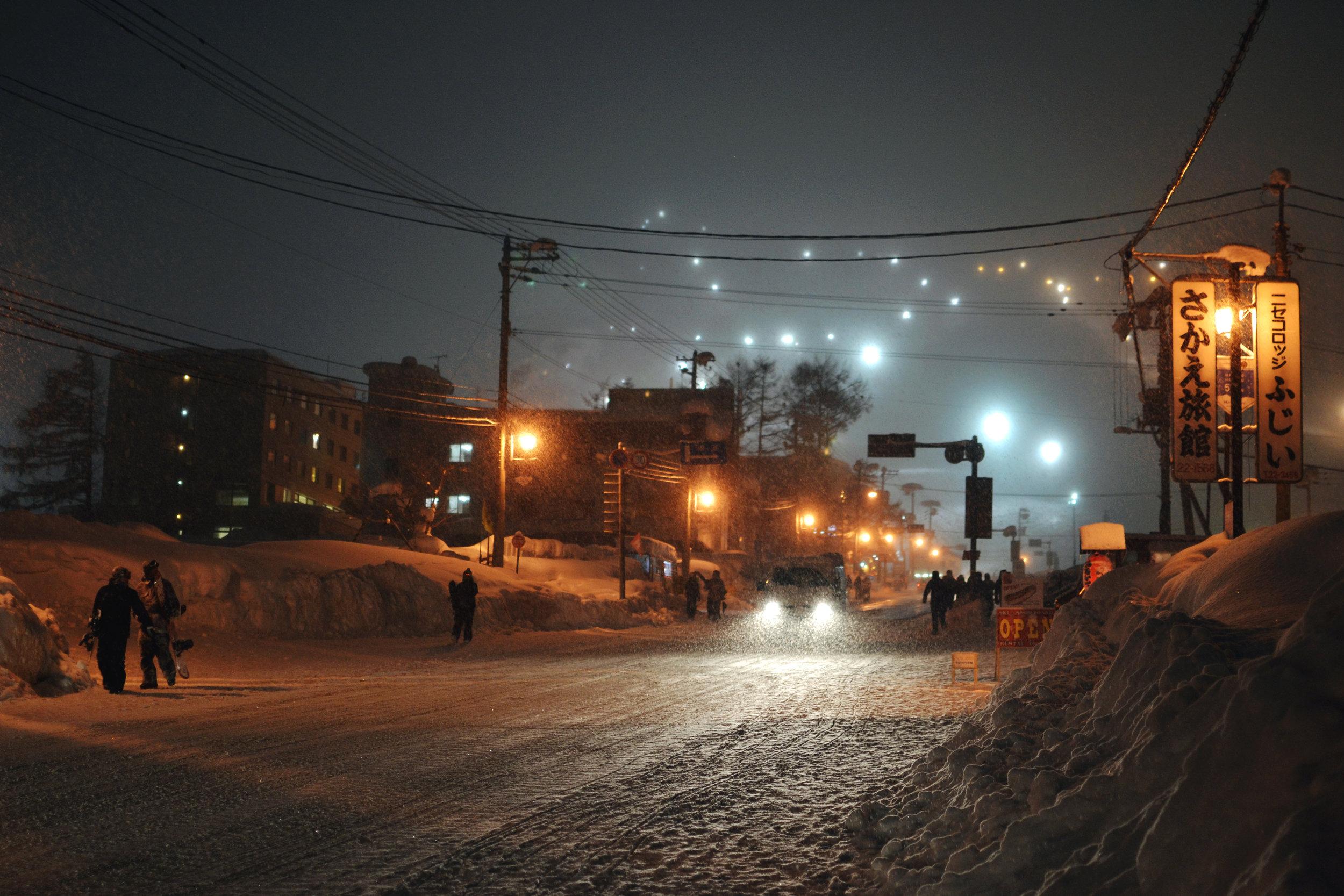 Icy streets of Niseko, Hokkaido