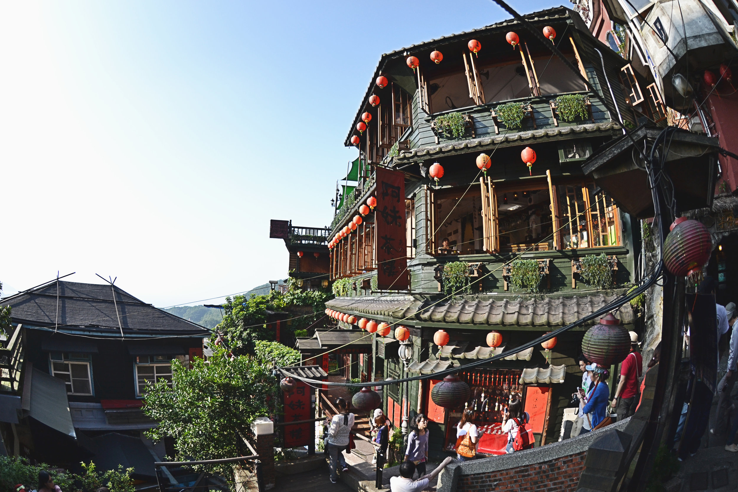 """The A Mei Teahouse, which is known to be the inspiration for the bathhouse in Hayao Miyazaki's """"Spirited Away."""""""