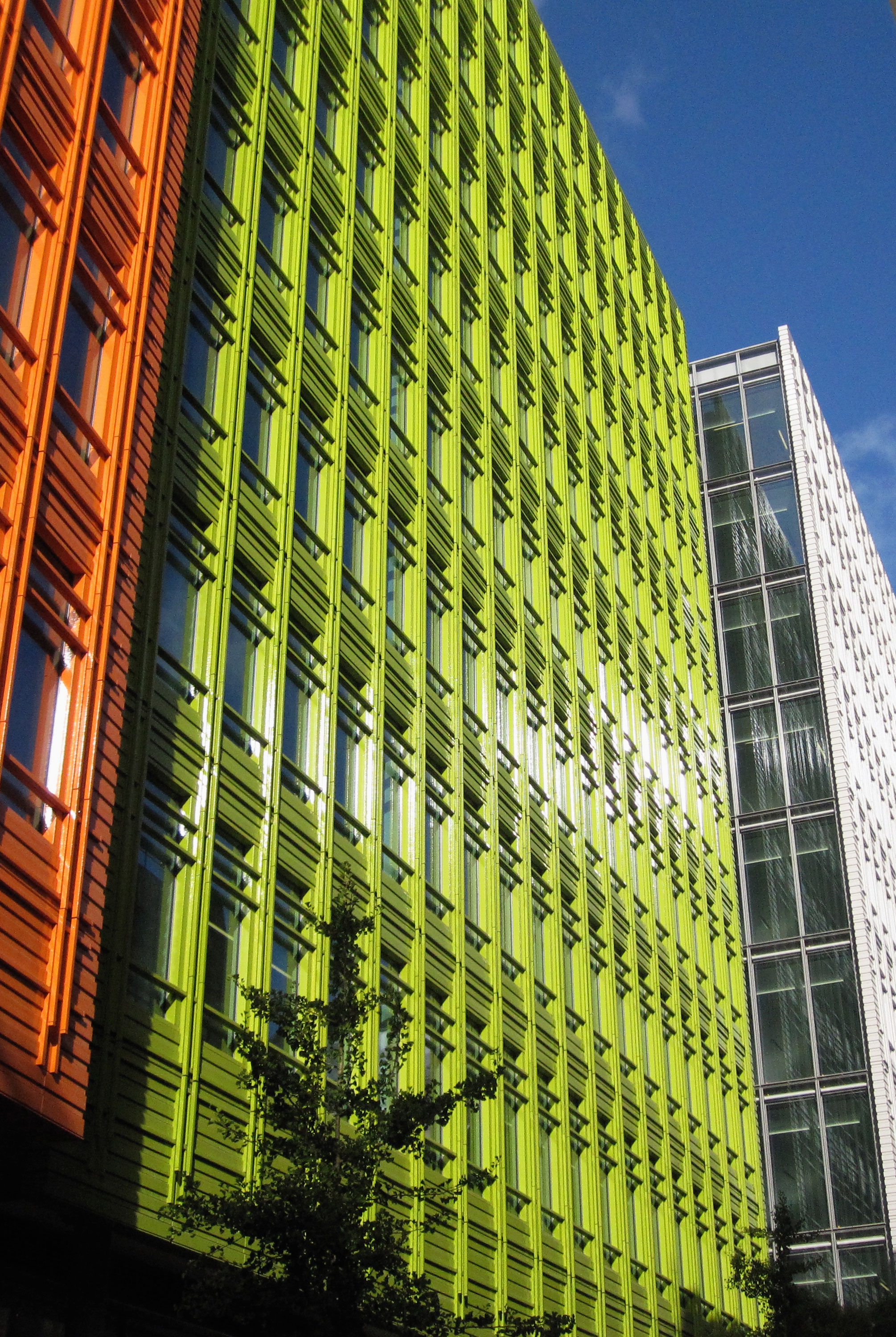 Colorful buildings in London