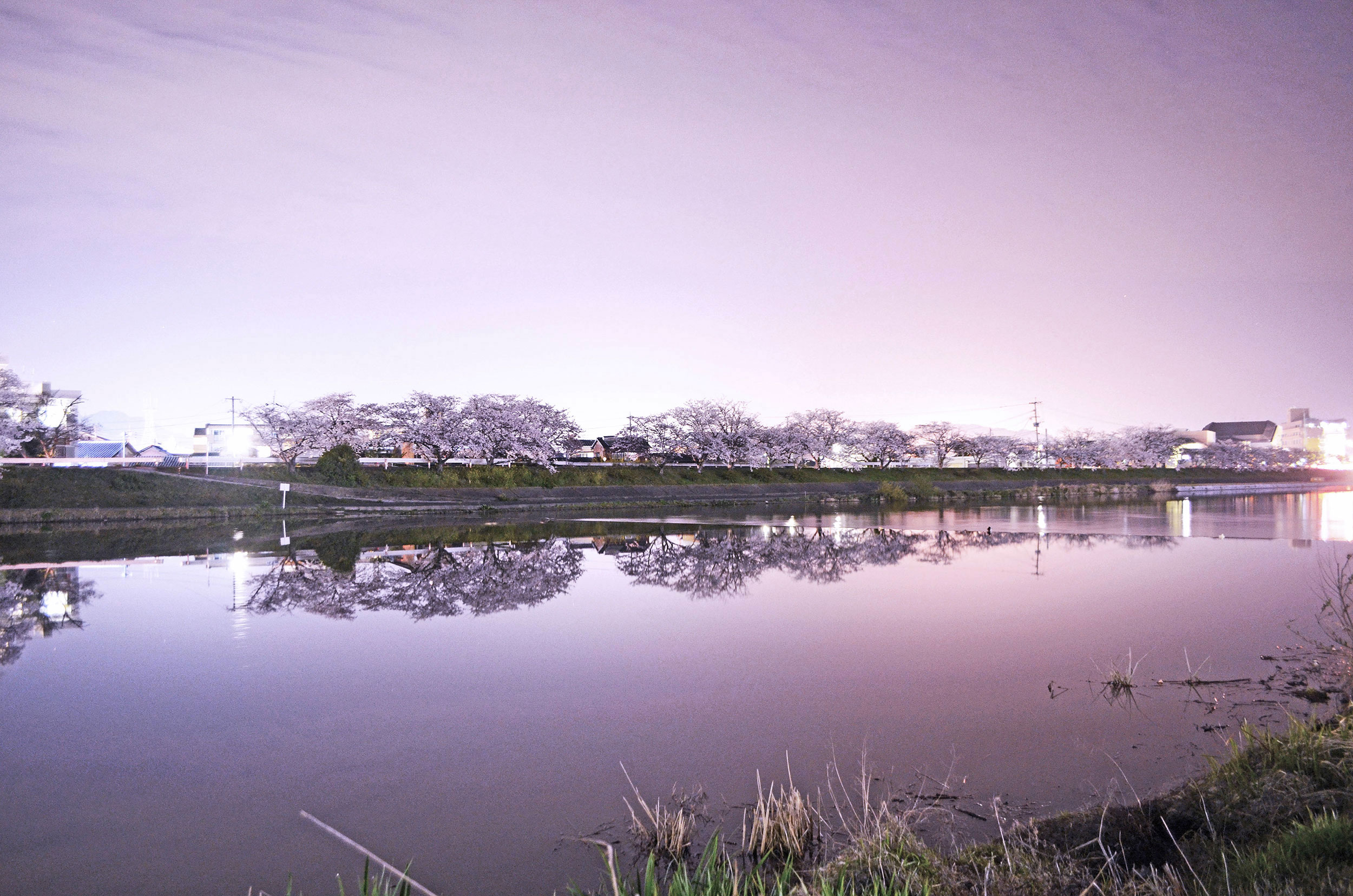 The Imagawa river at night