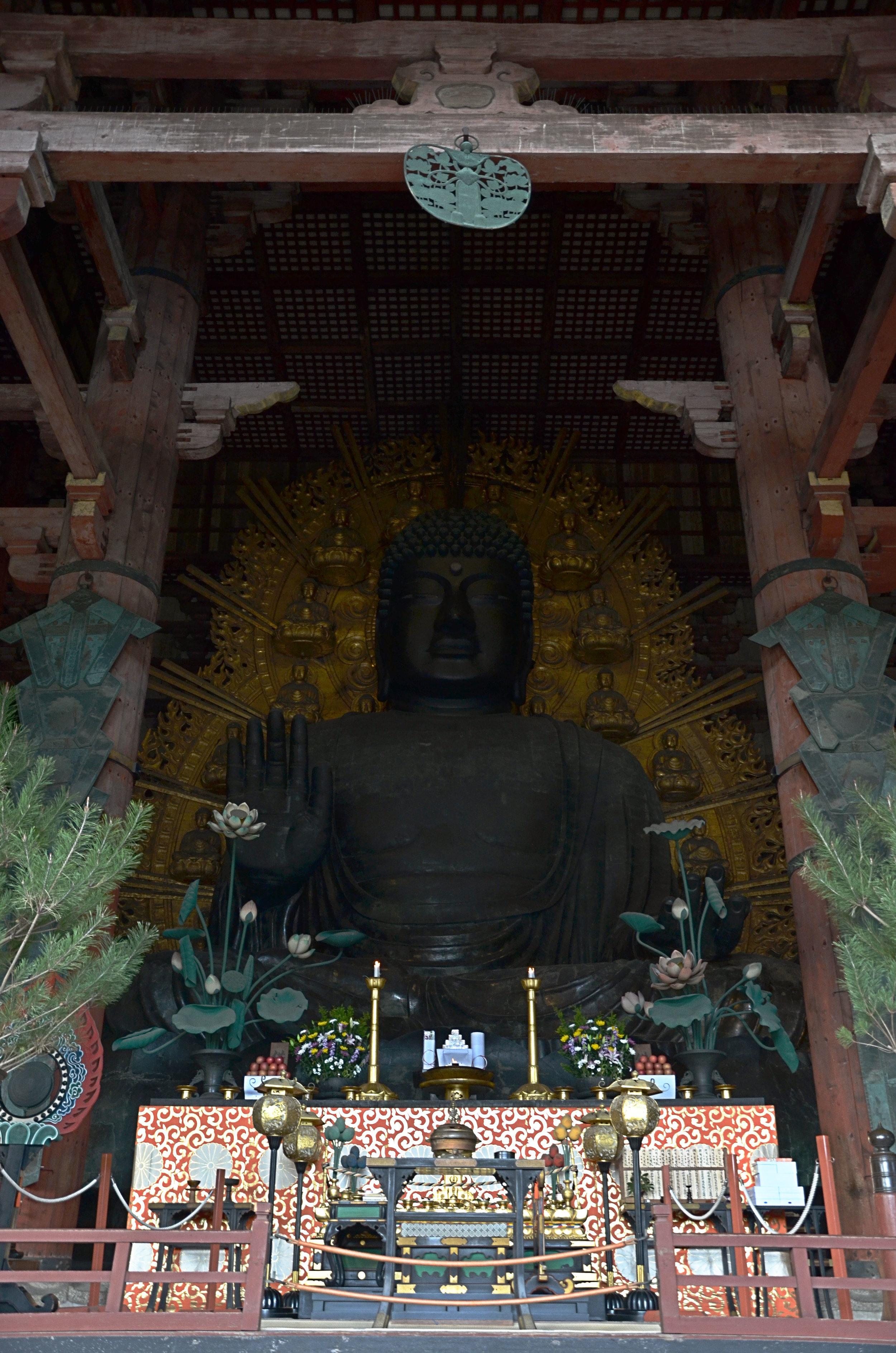 The inside of  Tōdai-ji