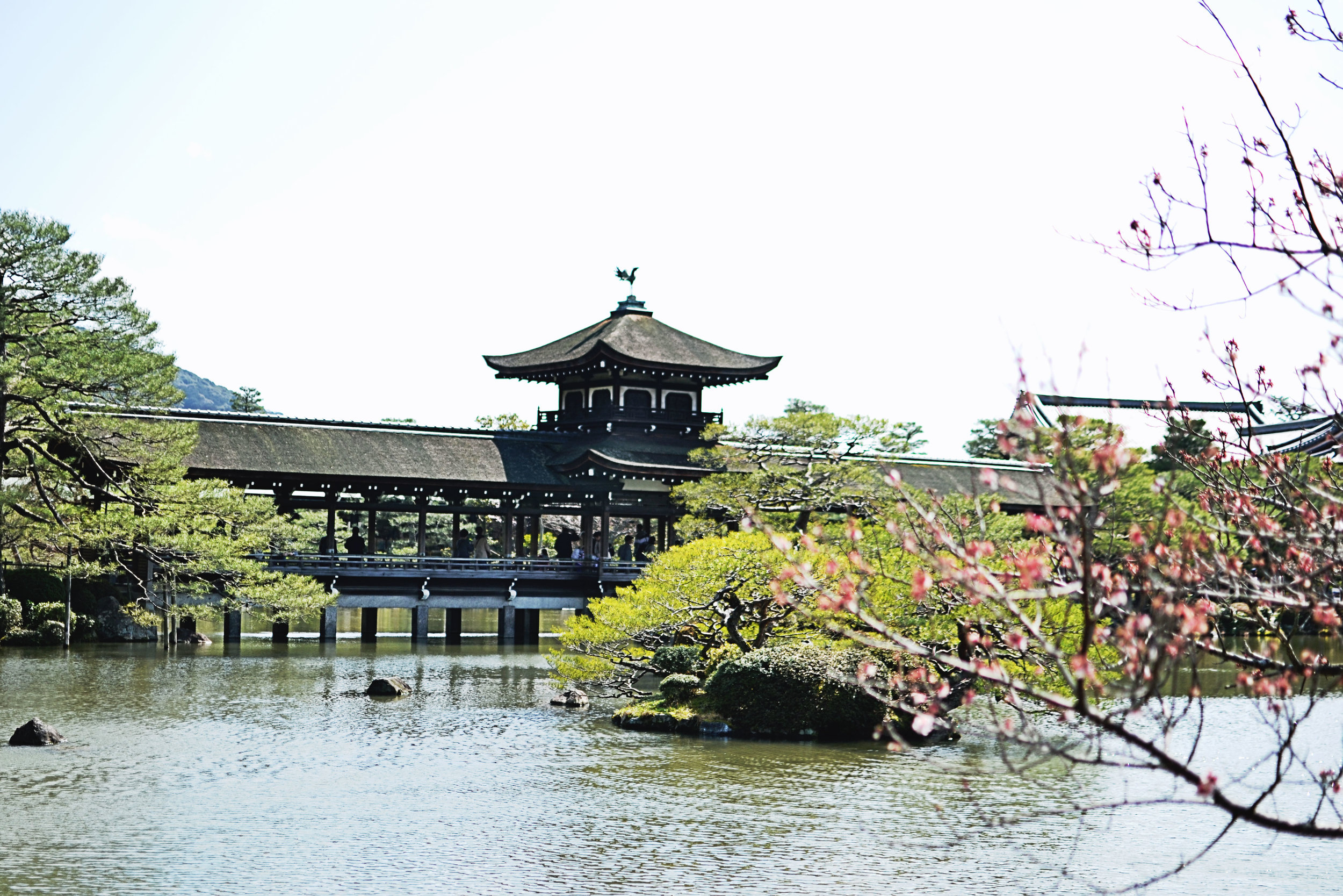 Landscape at Heian shrine in Kyoto