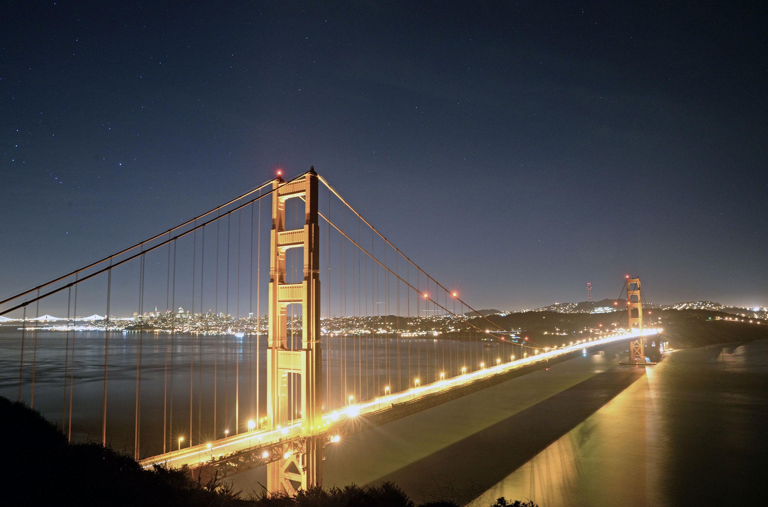 The Golden Gate Bridge from Battery Spencer