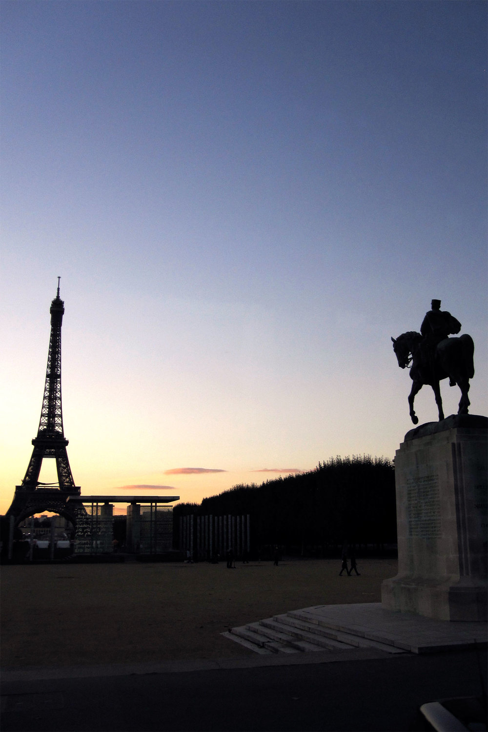 The Eiffel Tower in a Paris sunset
