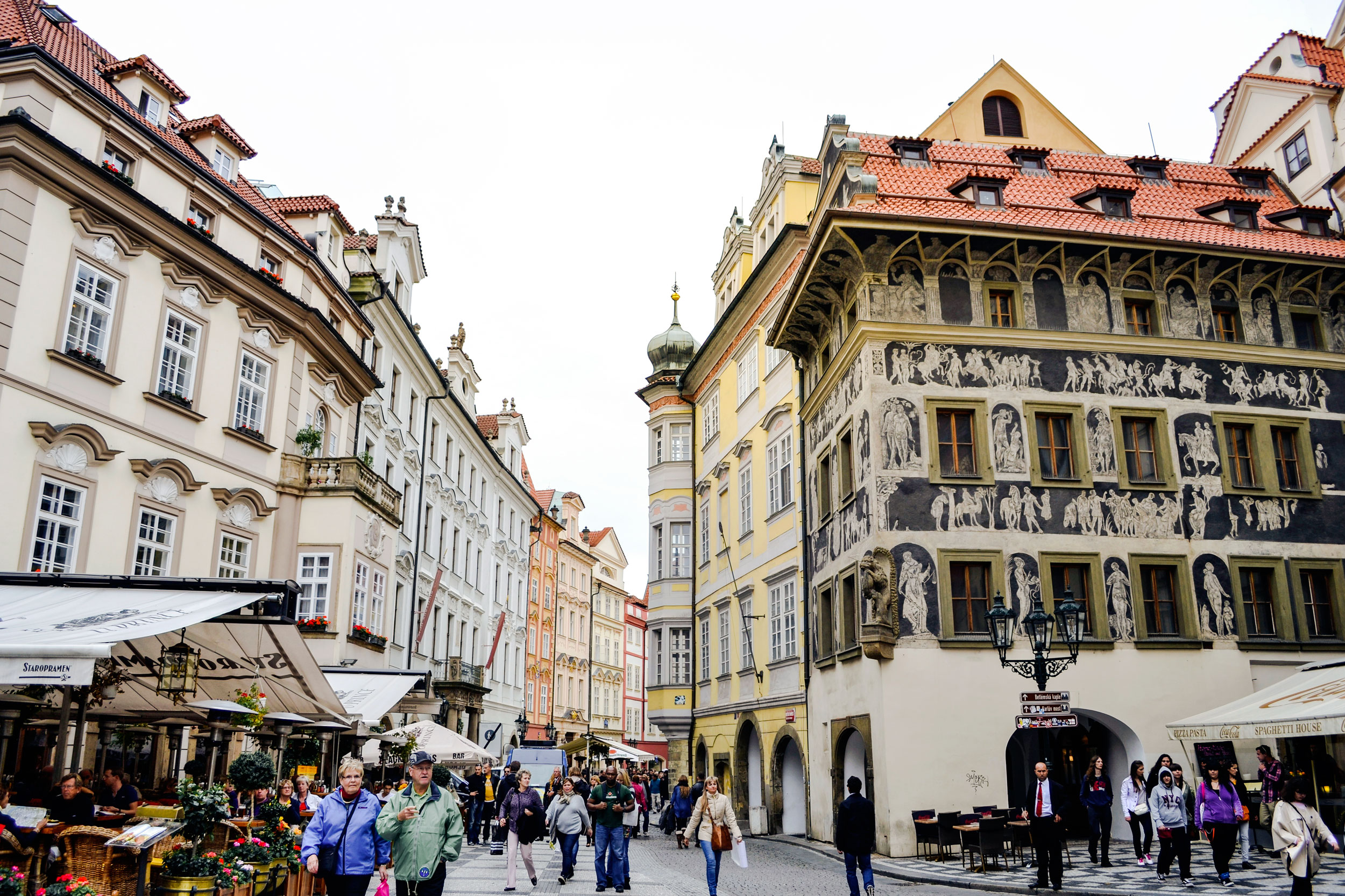 Walking through the streets of Prague