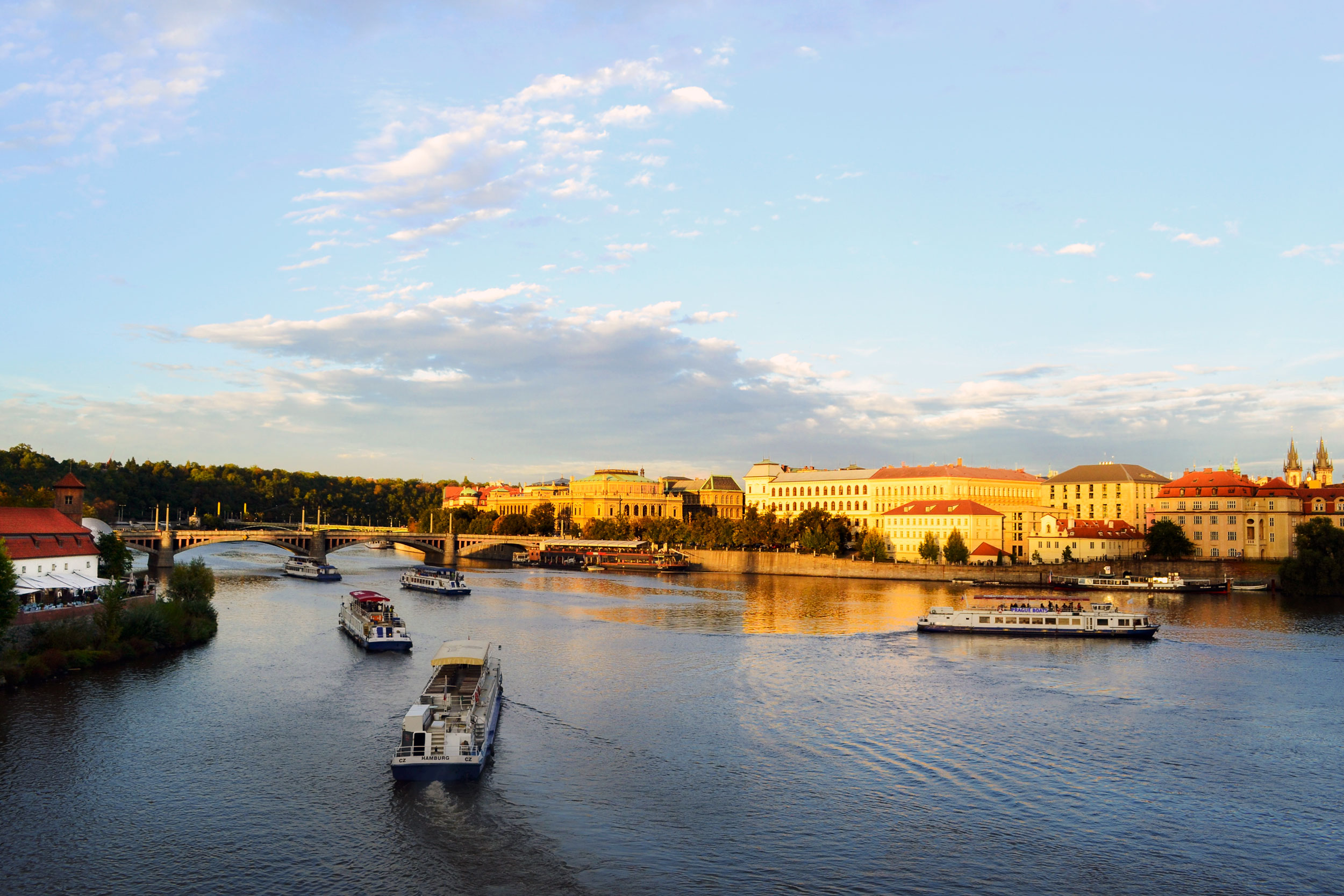 Another view from the Charles Bridge at sunset