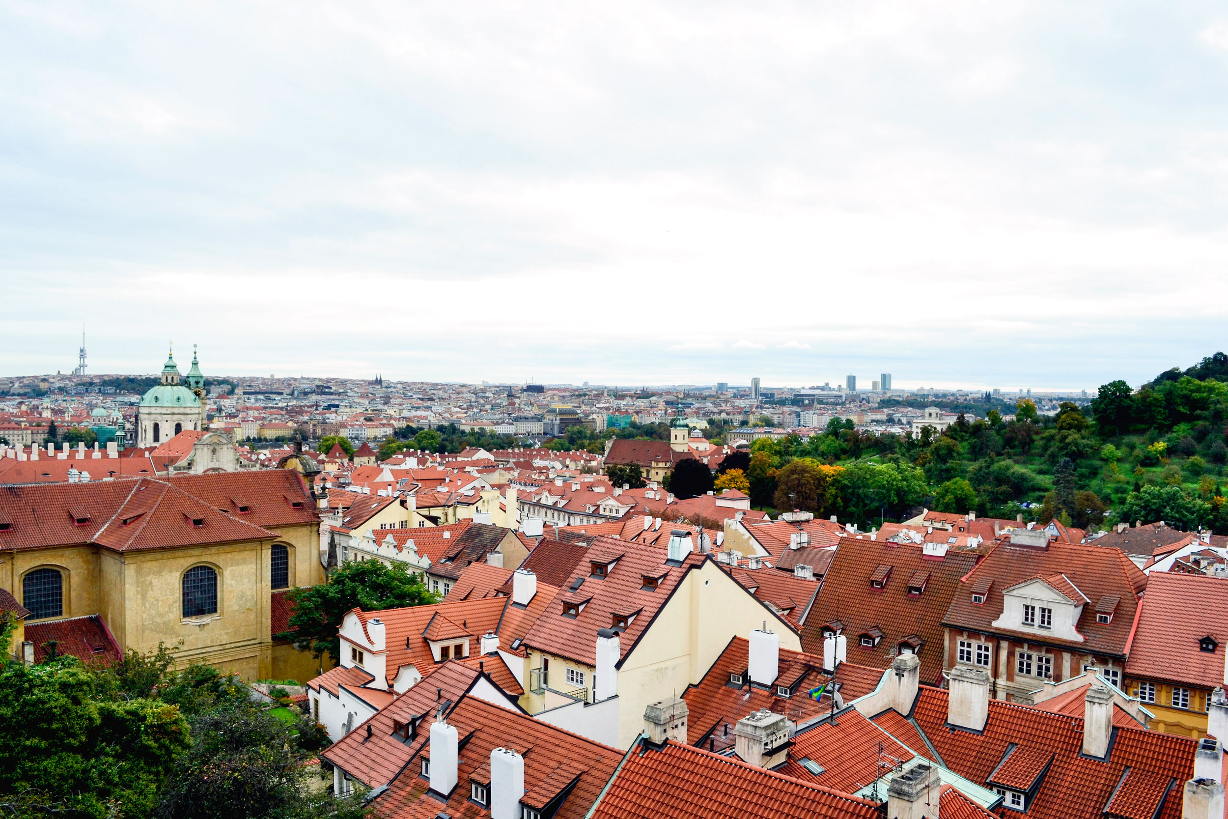 Red rooftops in Prague