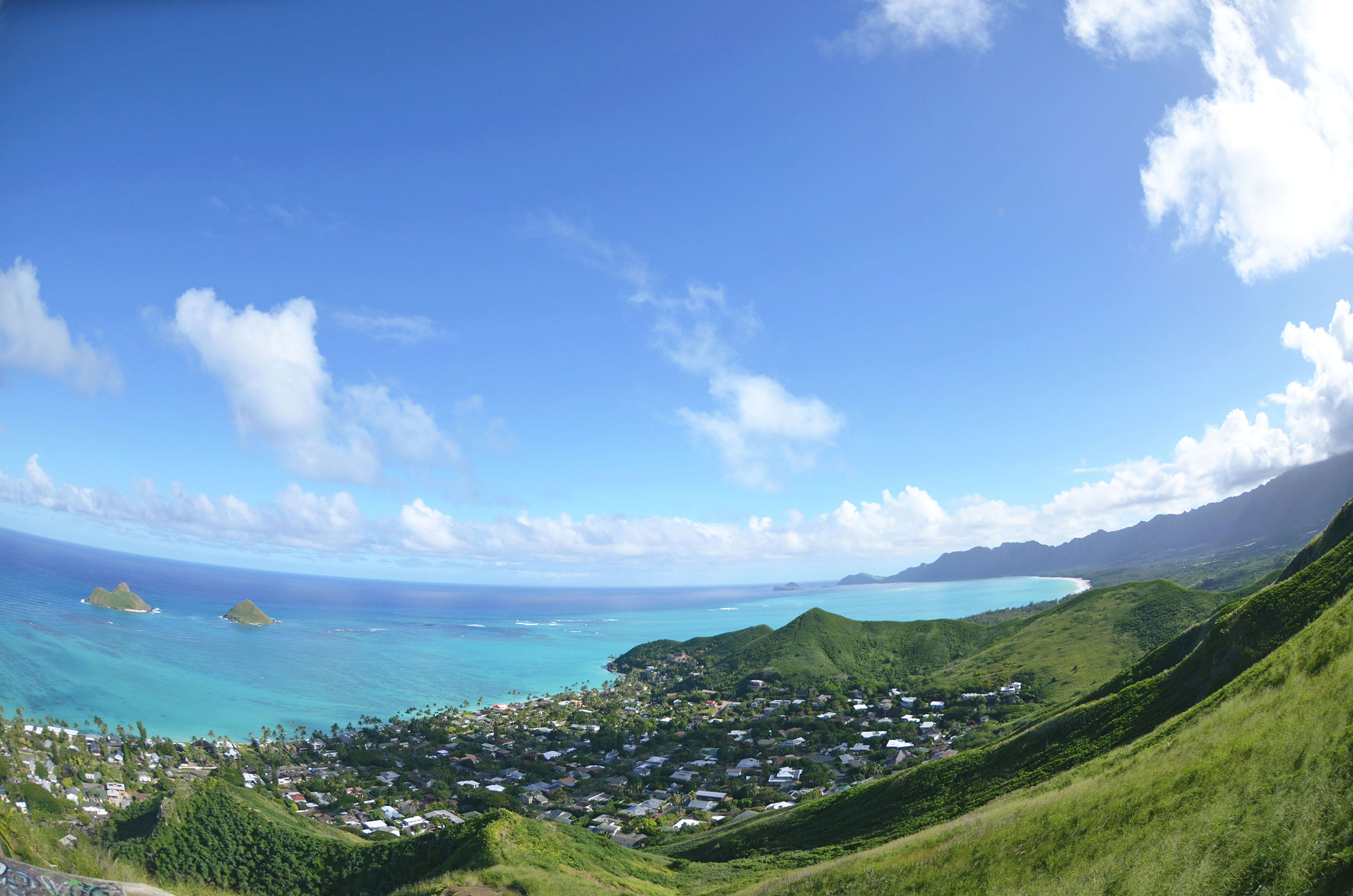 View from the Lanikai Pillboxes hike [  BUY PRINT  ]
