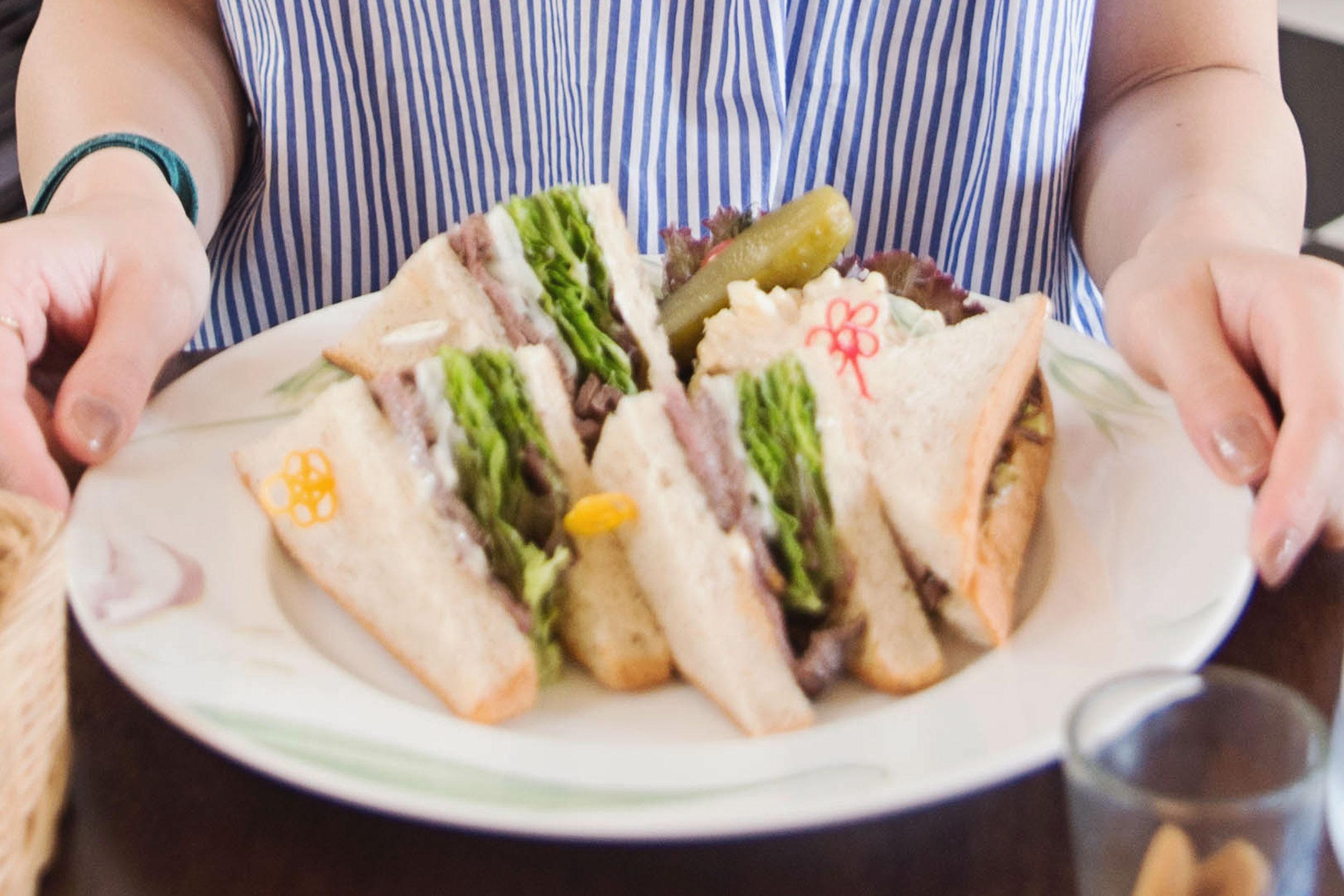 Sandwiches at Freundlieb Ikuta in Kobe