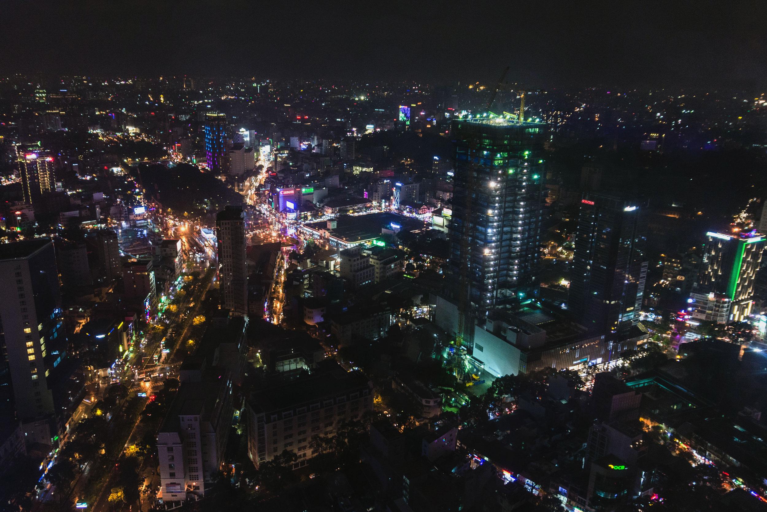 Ho Chi Min, Vietnam cityscape at night