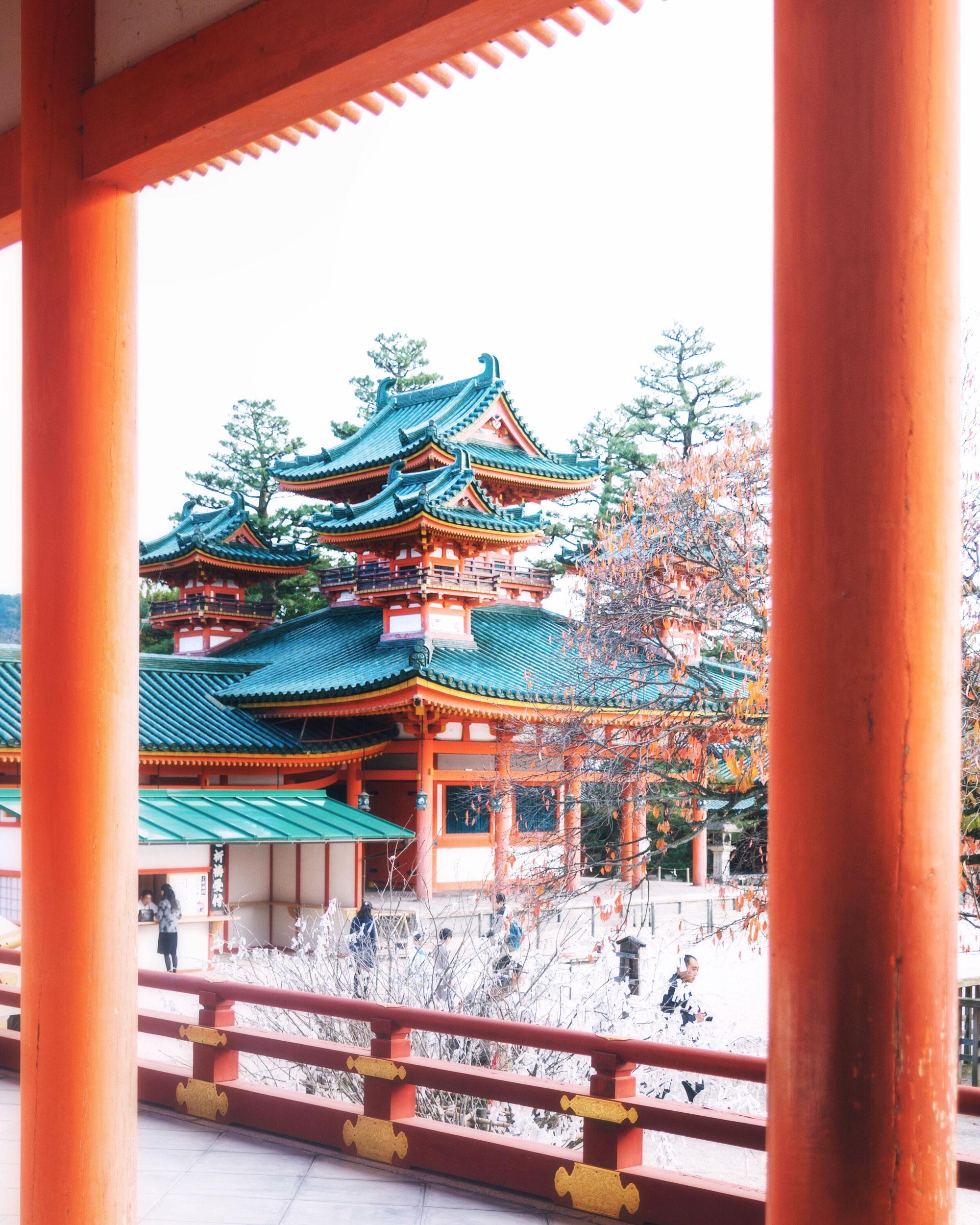 Heian shrine in Kyoto