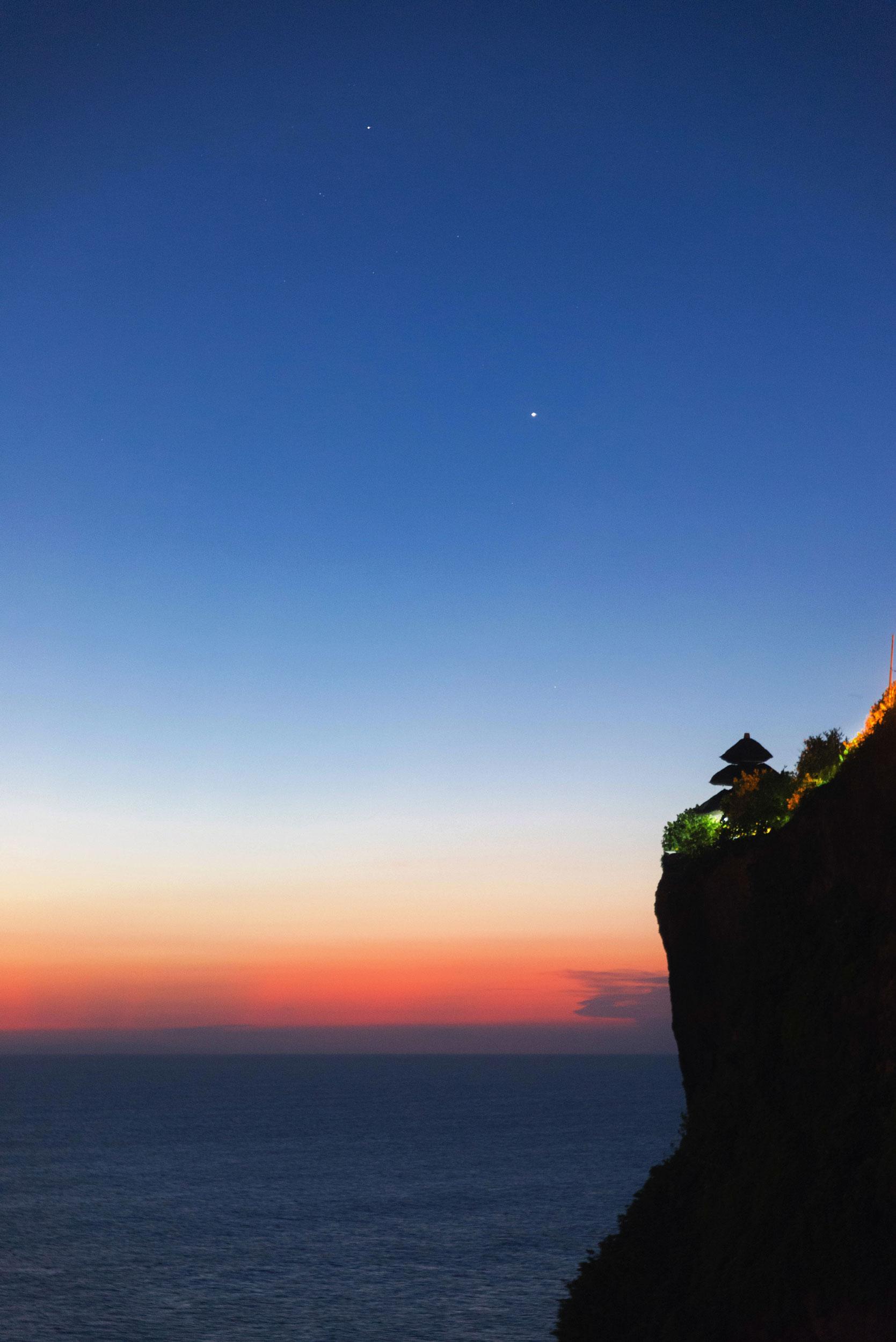 Uluwatu Temple at sunset