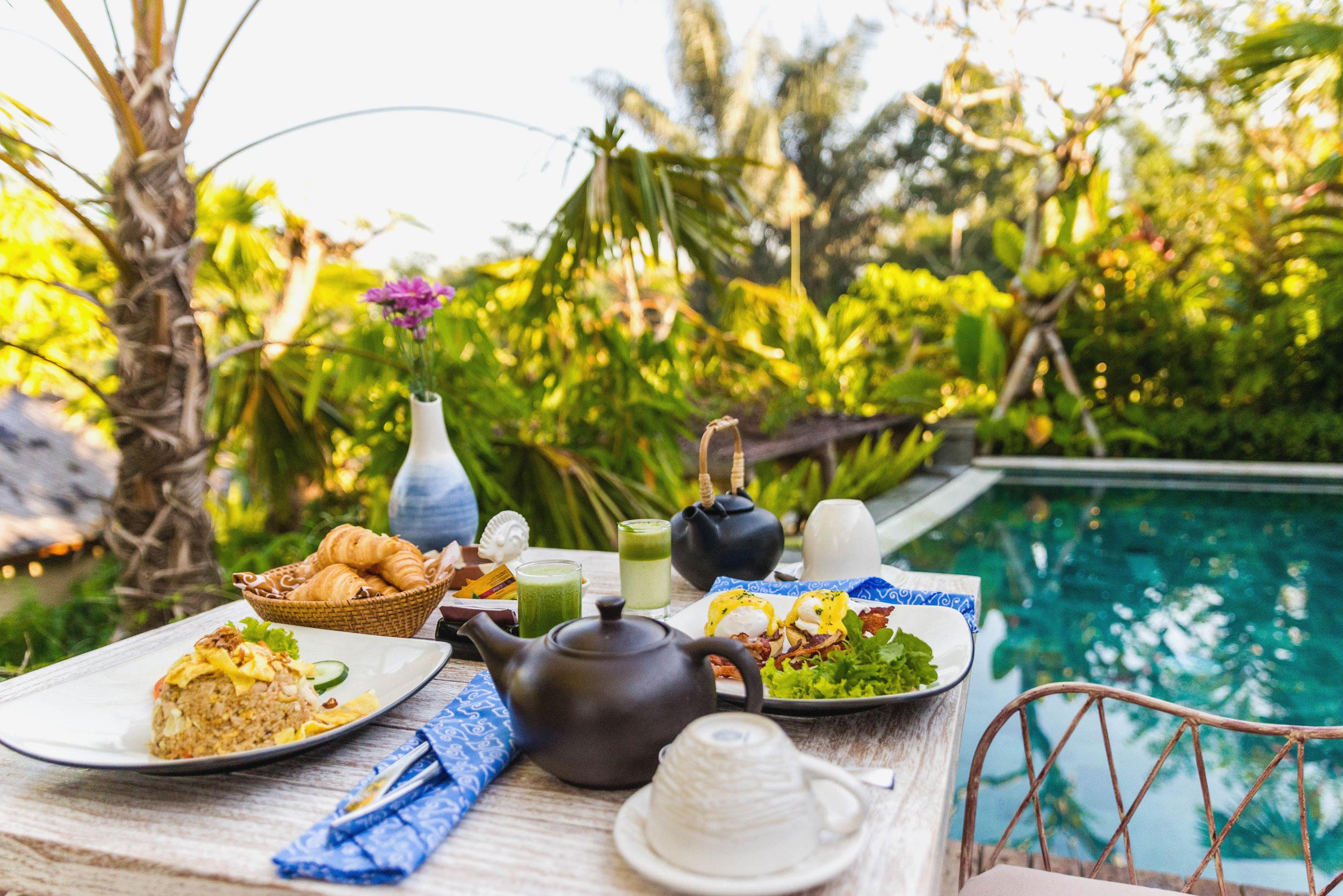 Breakfast at Nau Villas, Ubud in Bali