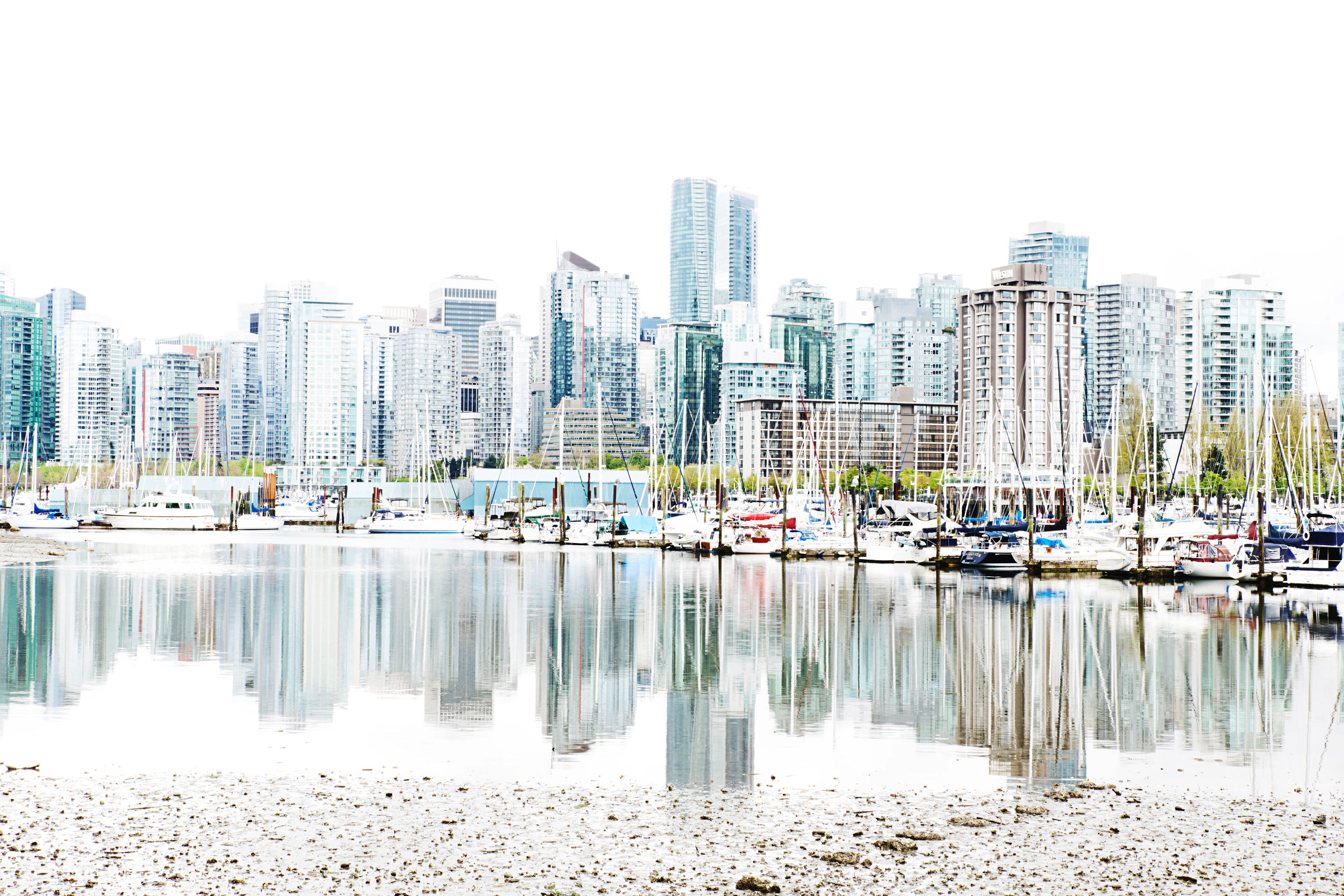 The Vancouver skyline - [  BUY PRINT  ]