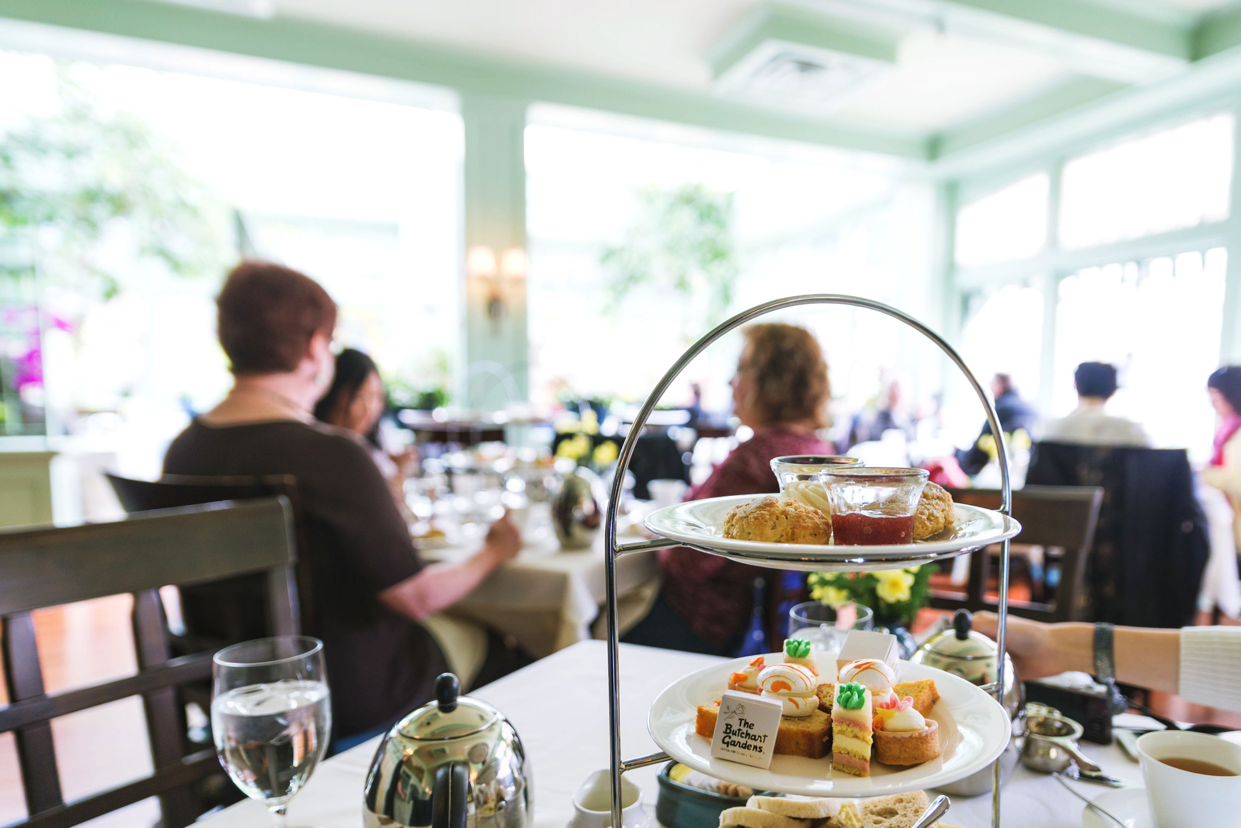 Afternoon tea at The Dining Room, Buchart Gardens