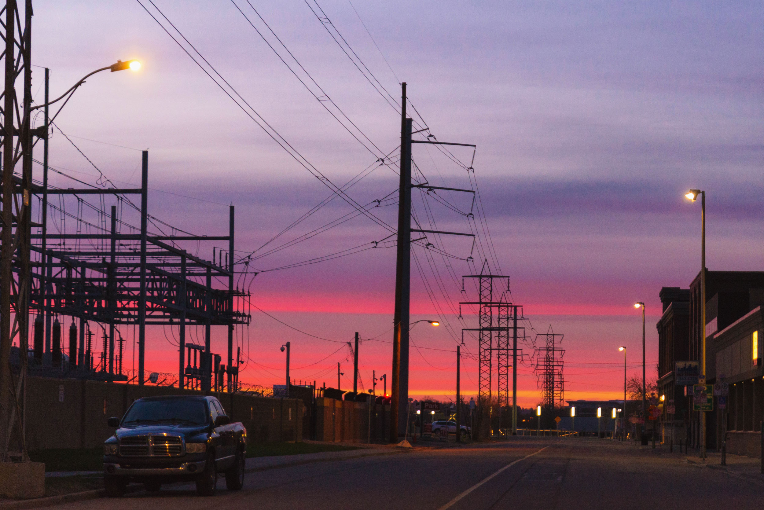 The Calgary sunrise was incredible.