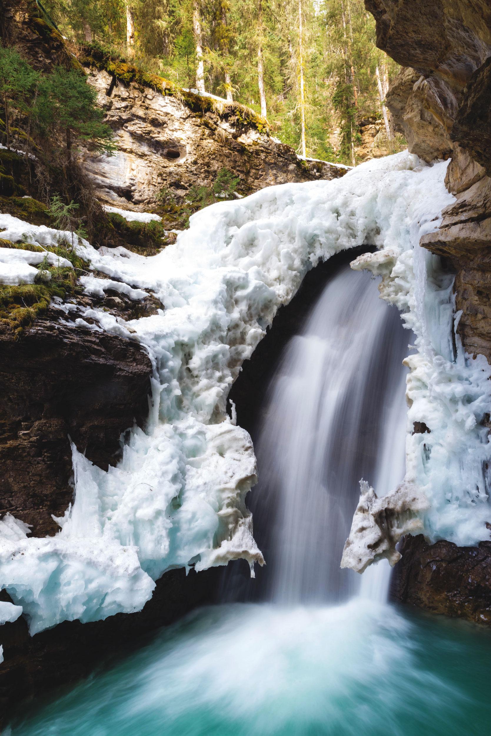 Johnston Canyon's lower waterfall
