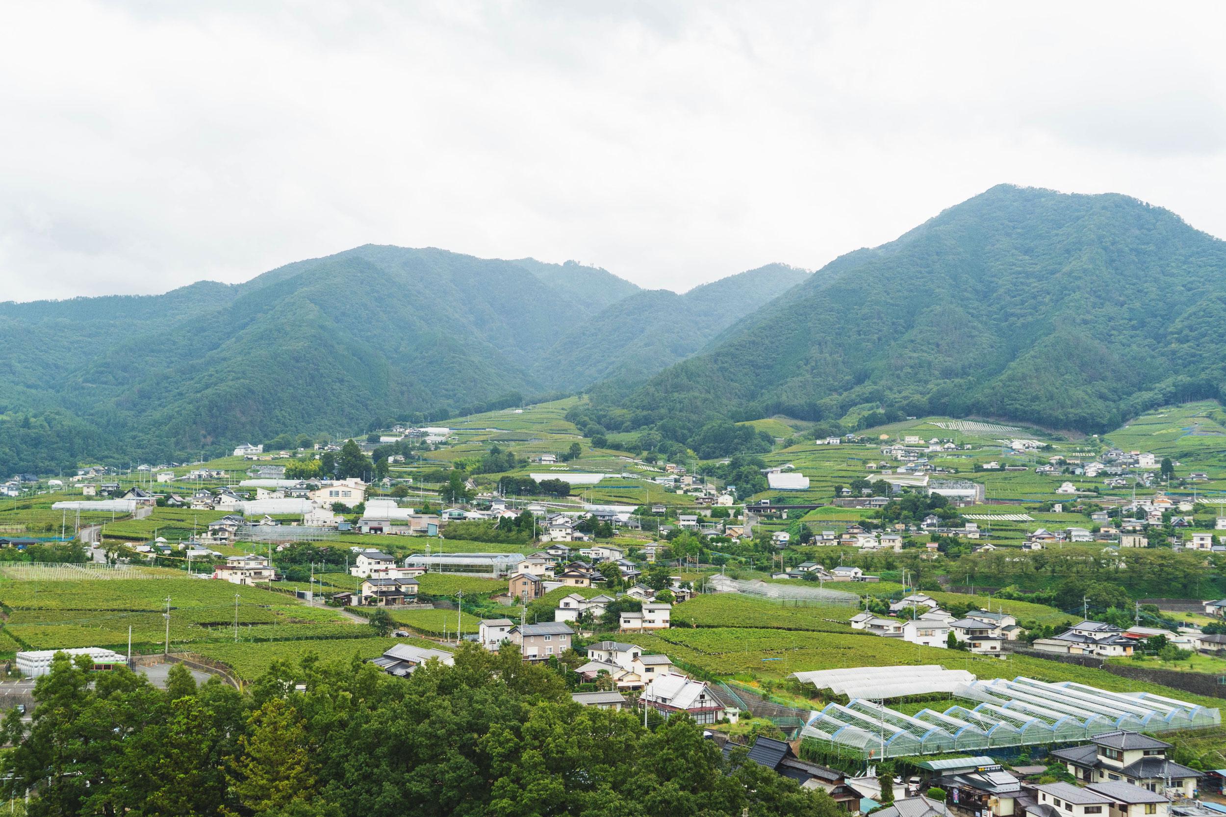 Koshu city in Yamanashi, Japan