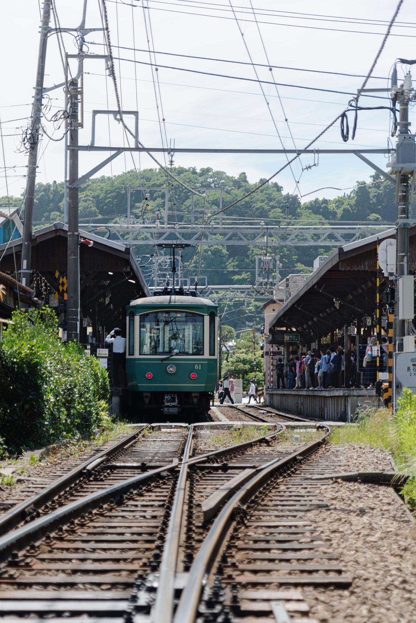 The Enoden train in Kamakura - [  BUY PRINT  ]