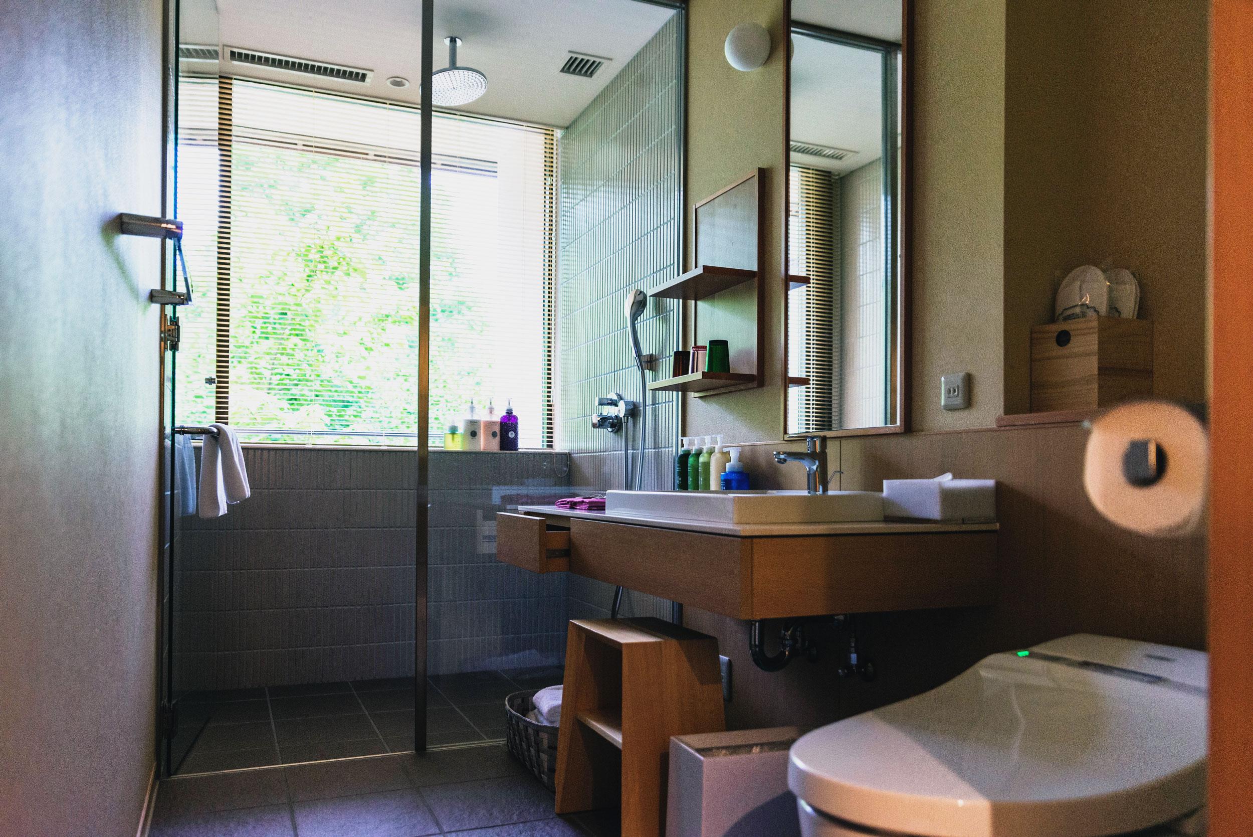 The bathroom at Hoshino Resorts KAI Kinugawa