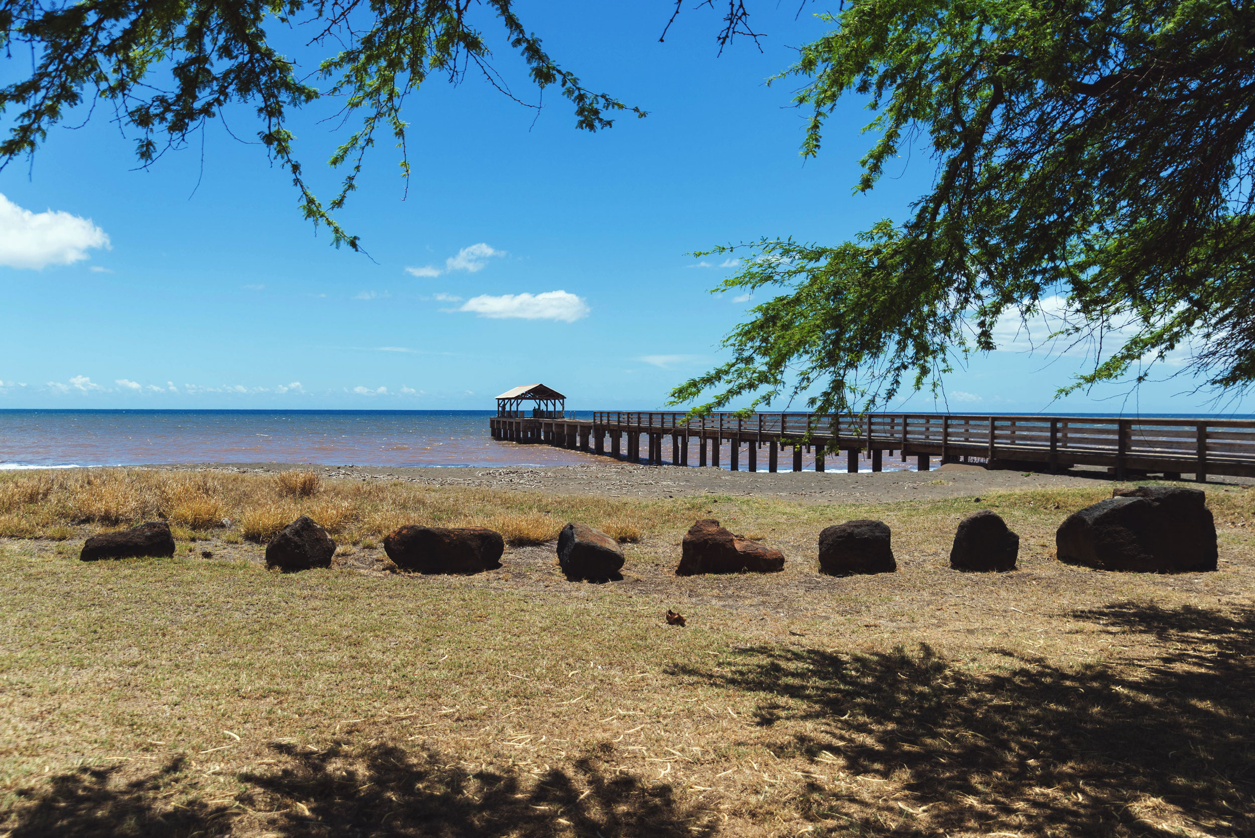 Waimea Landing pier in Waimea