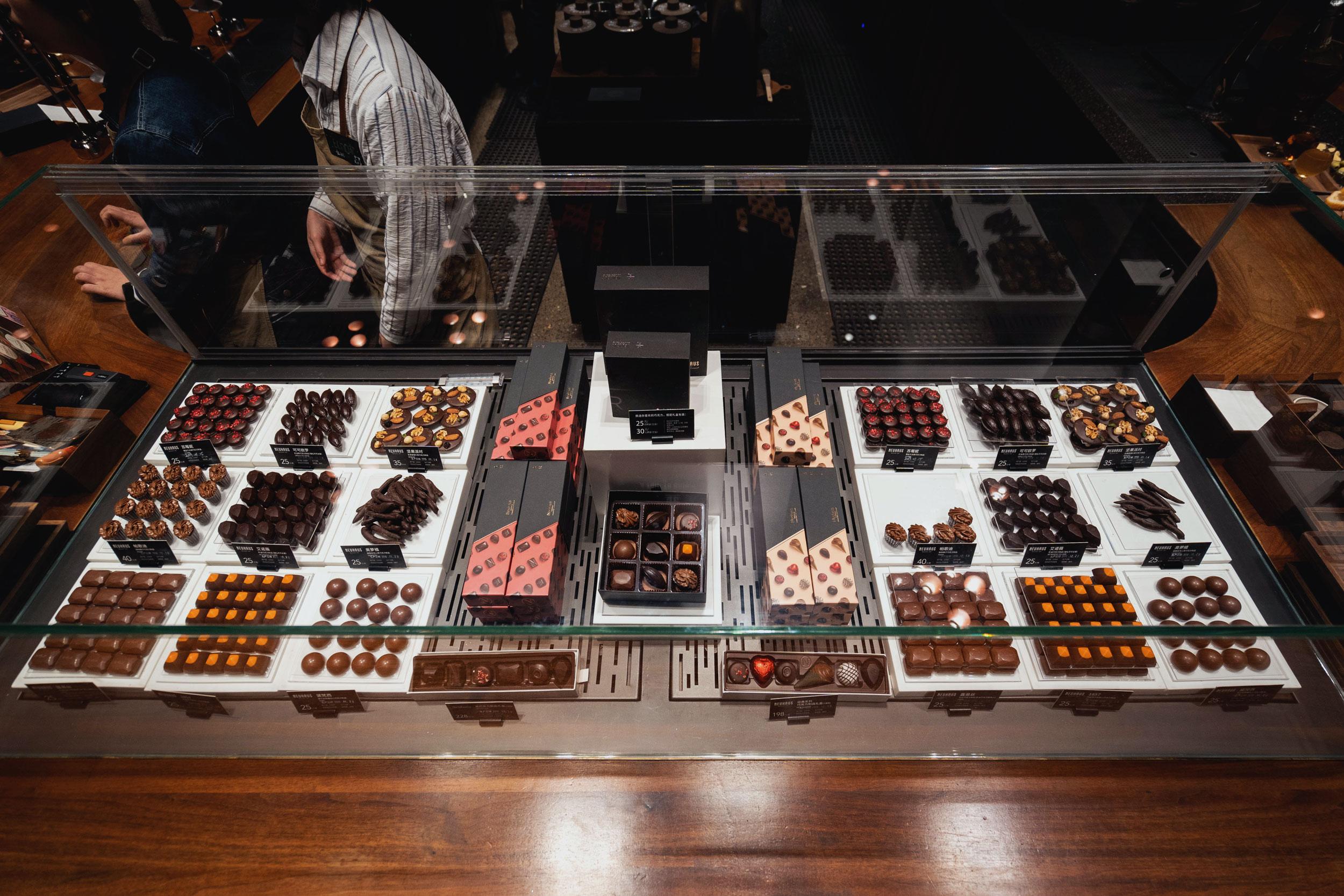 Chocolate counter at Starbucks Reserve Shanghai Roastery