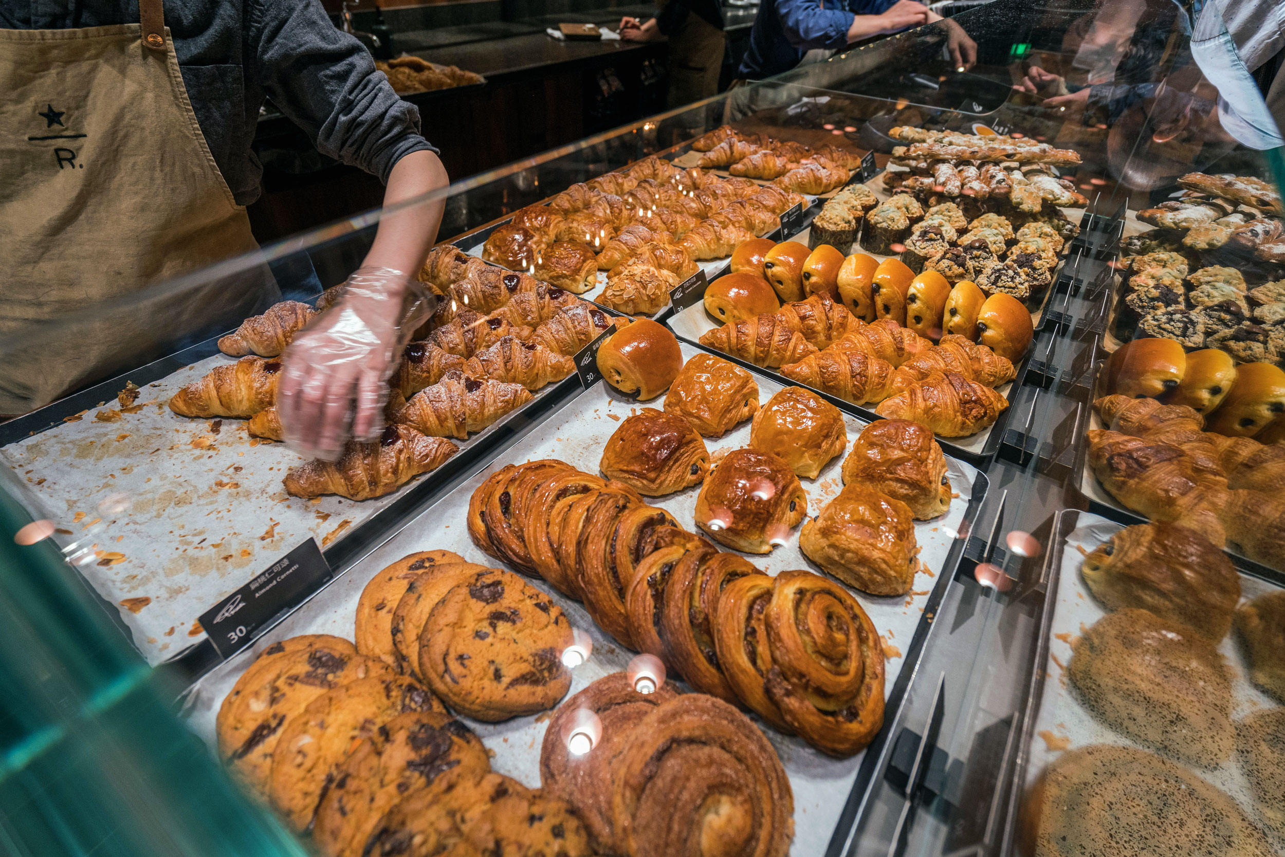 Some pastries and baked goods at Starbucks Reserve Shanghai Roastery