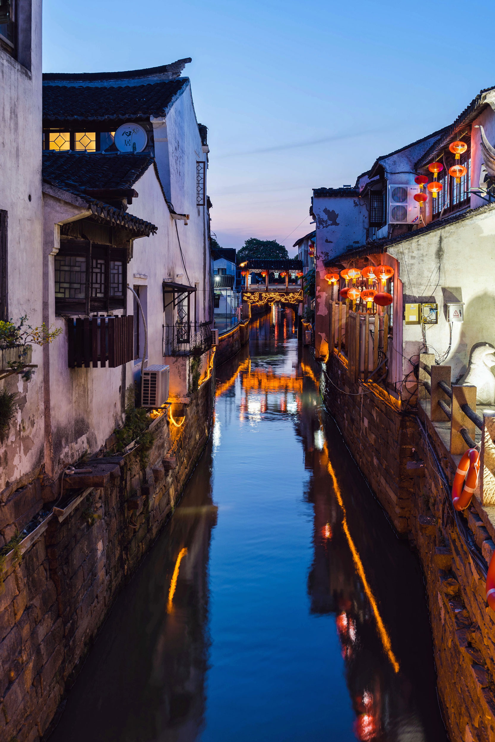 Canal at dusk in the Shantang area of Suzhou