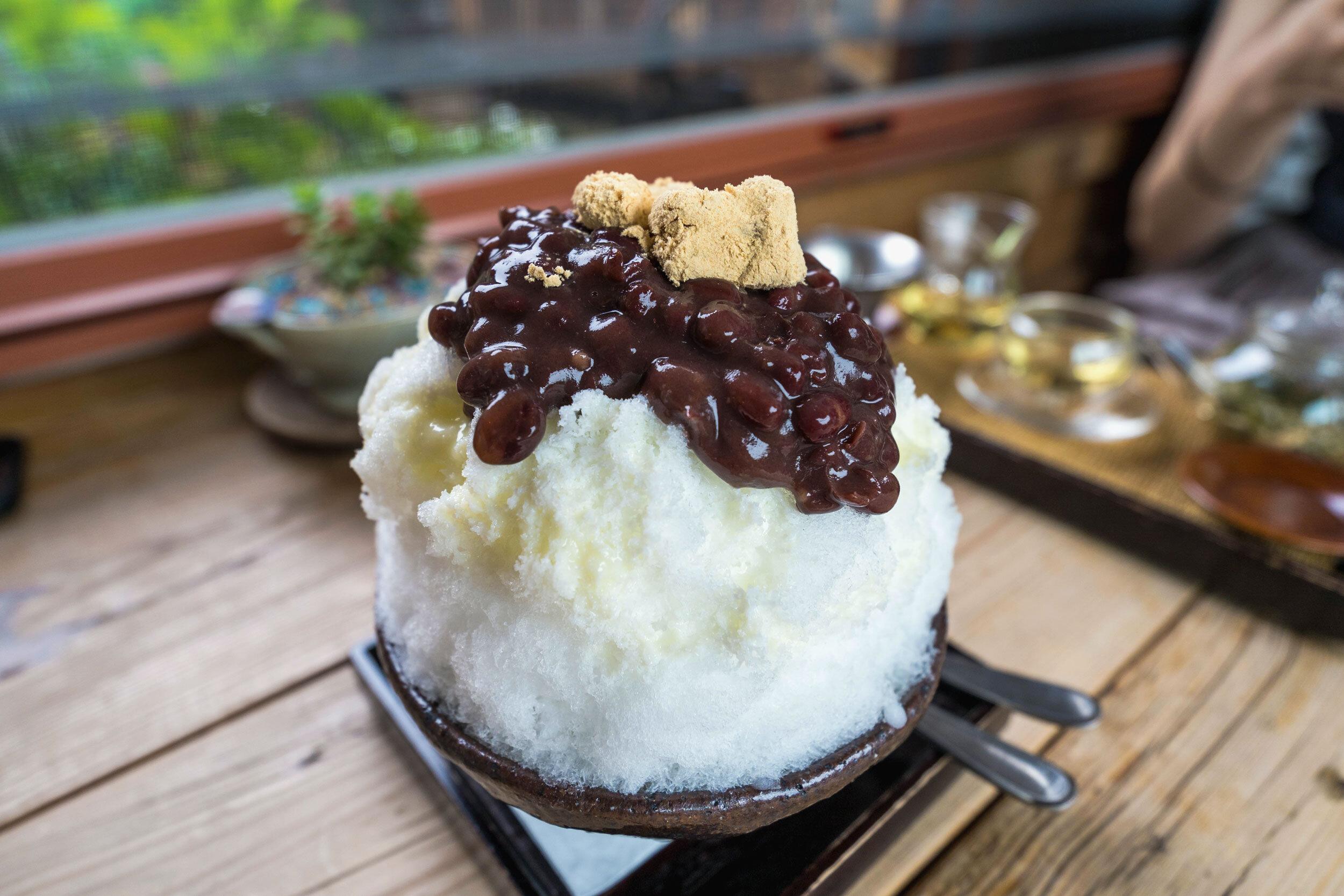 Patbingsu: Korean shaved ice