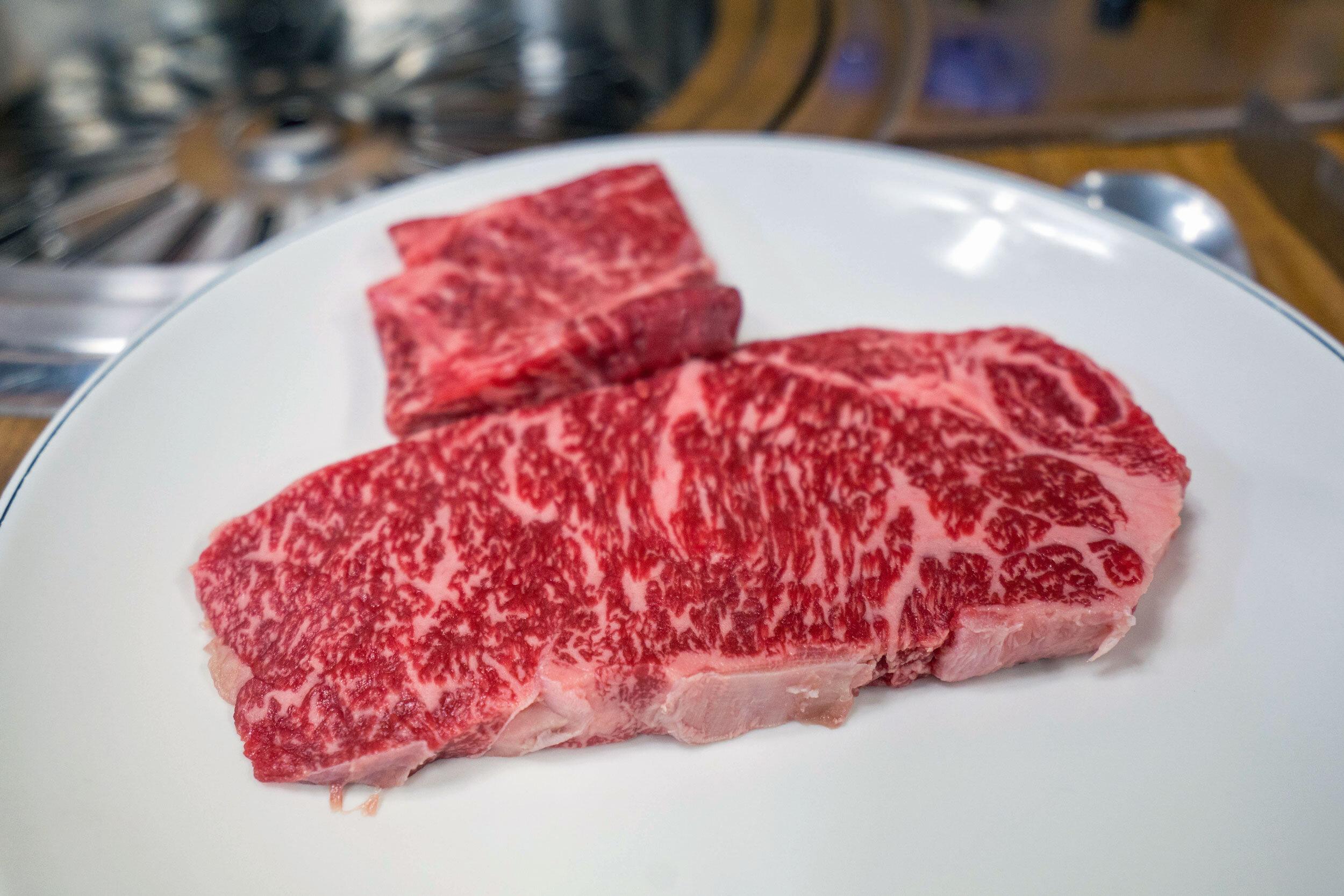 1++ grade Hanwoo beef
