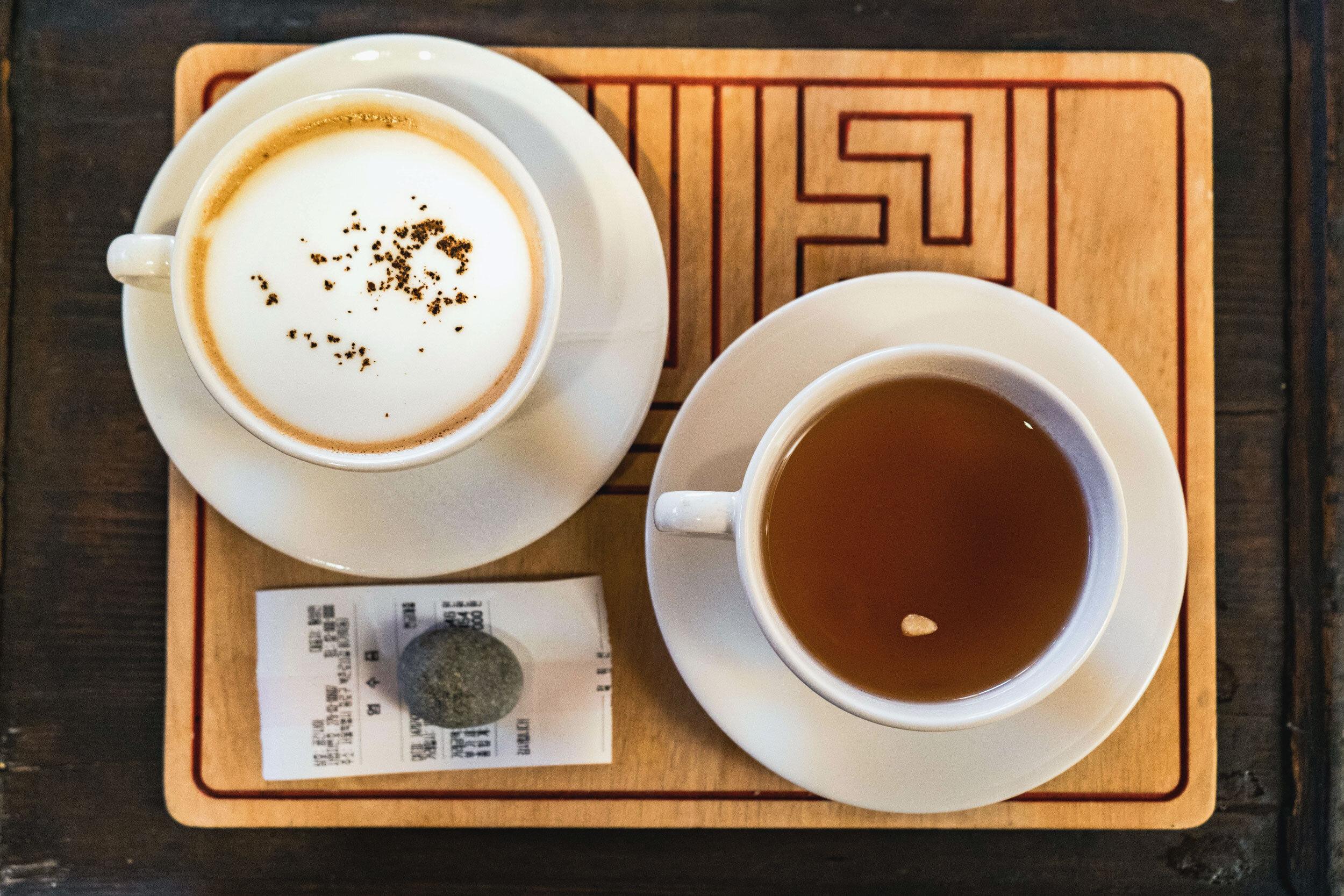 Latte and tea