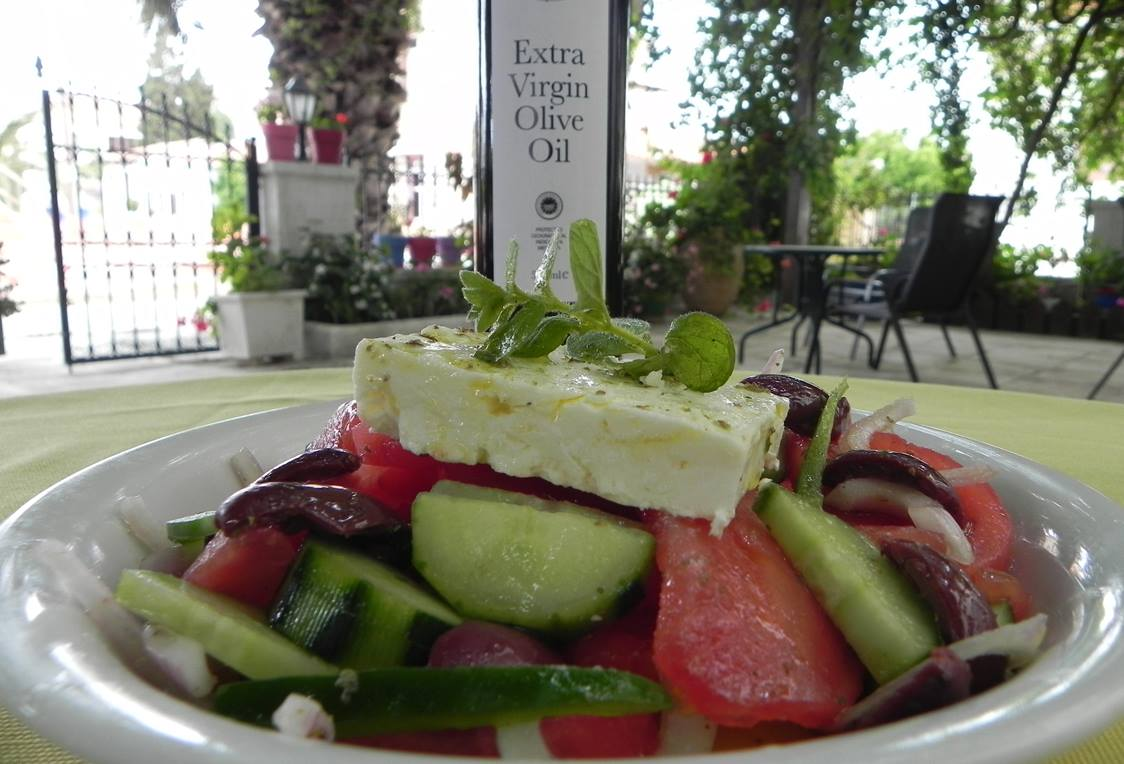 Ulysses, Methoni Olive Oil and Greek Salad