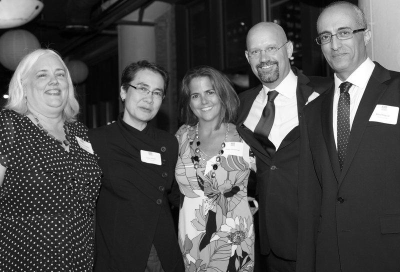 From L-R:  Nancy Cowles, Linda Ginzel (KID co-founder), Dawn Kasserman, Shawn Kasserman (board member) and Boaz Keysar (KID co-founder)