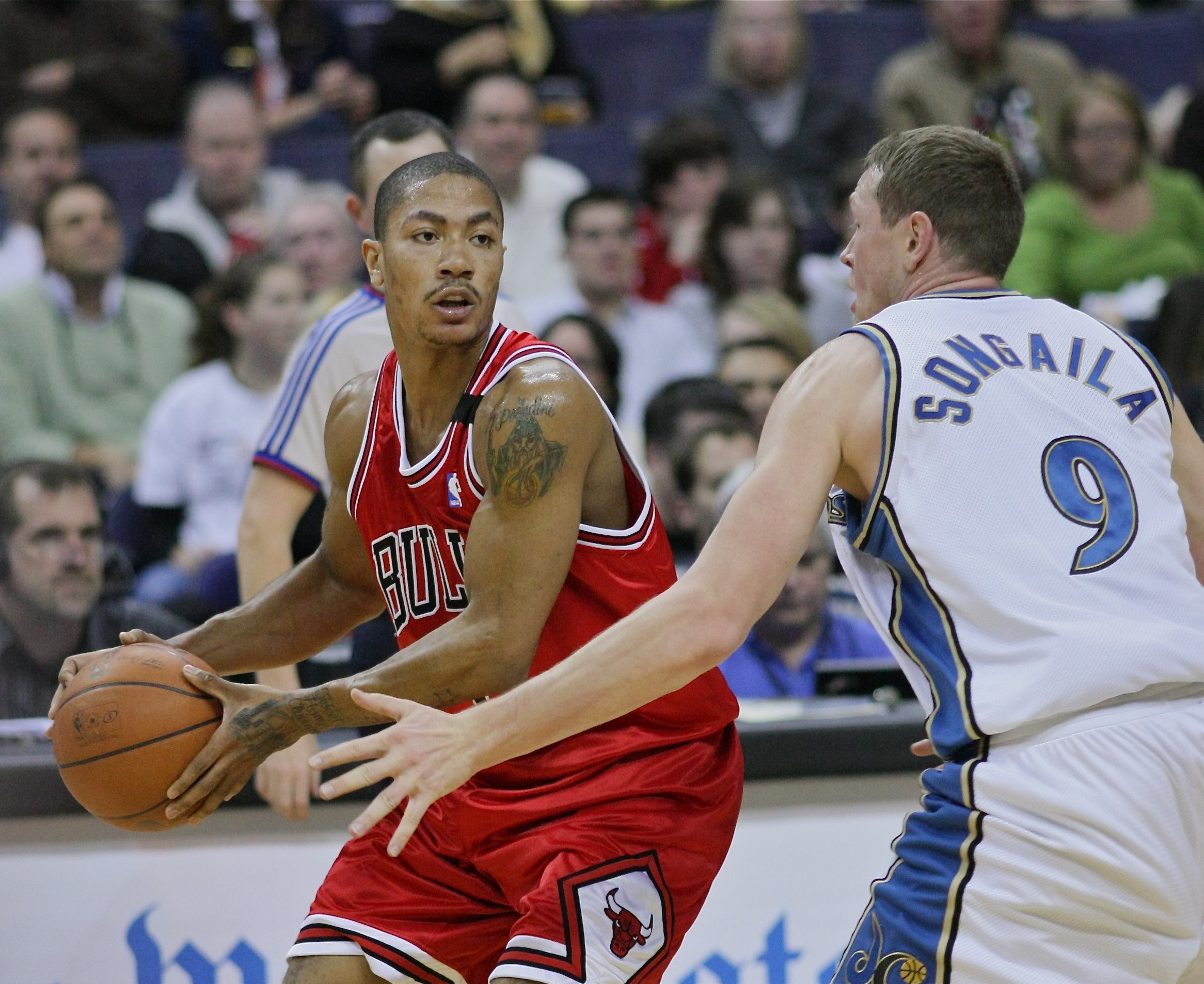 "Photo credit: ""Derrick Rose"" by Keith Allison via  Flickr  (license:  CC Attribution-ShareAlike 2.0 )"